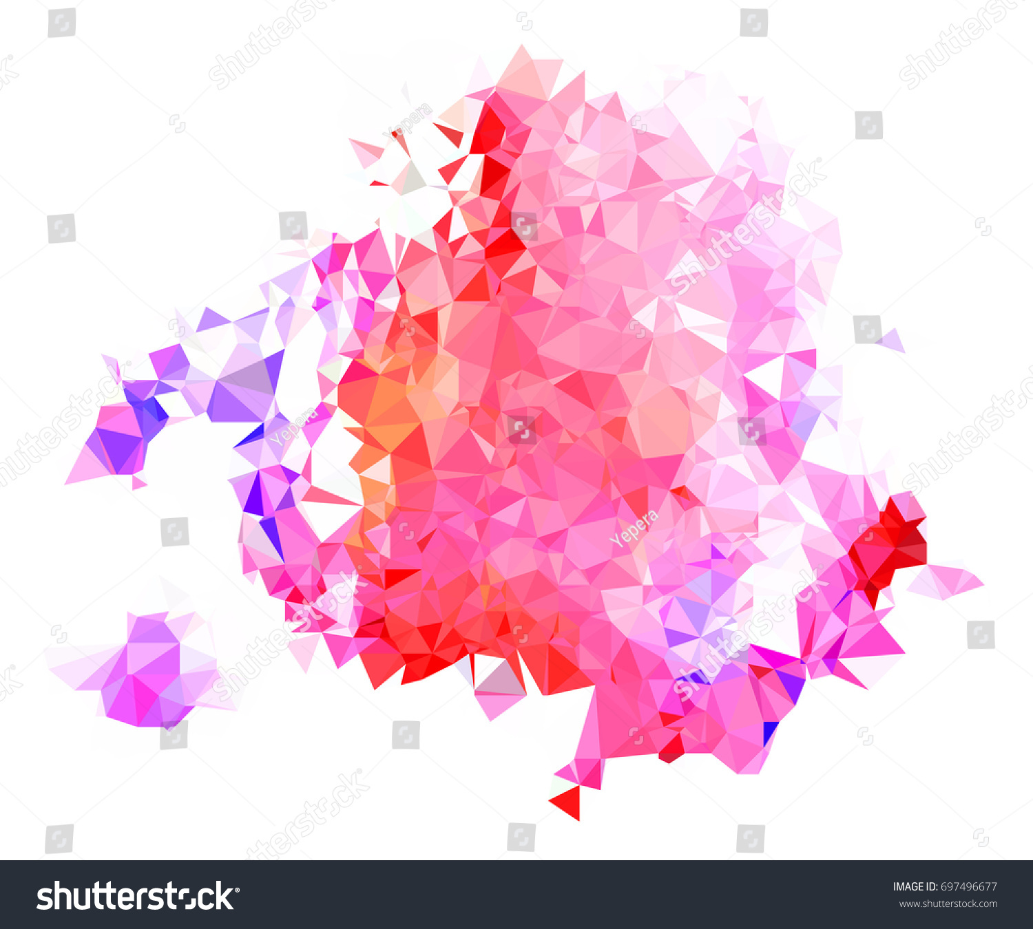 Abstract Color Splash Shape Triangulated Geometric Royalty