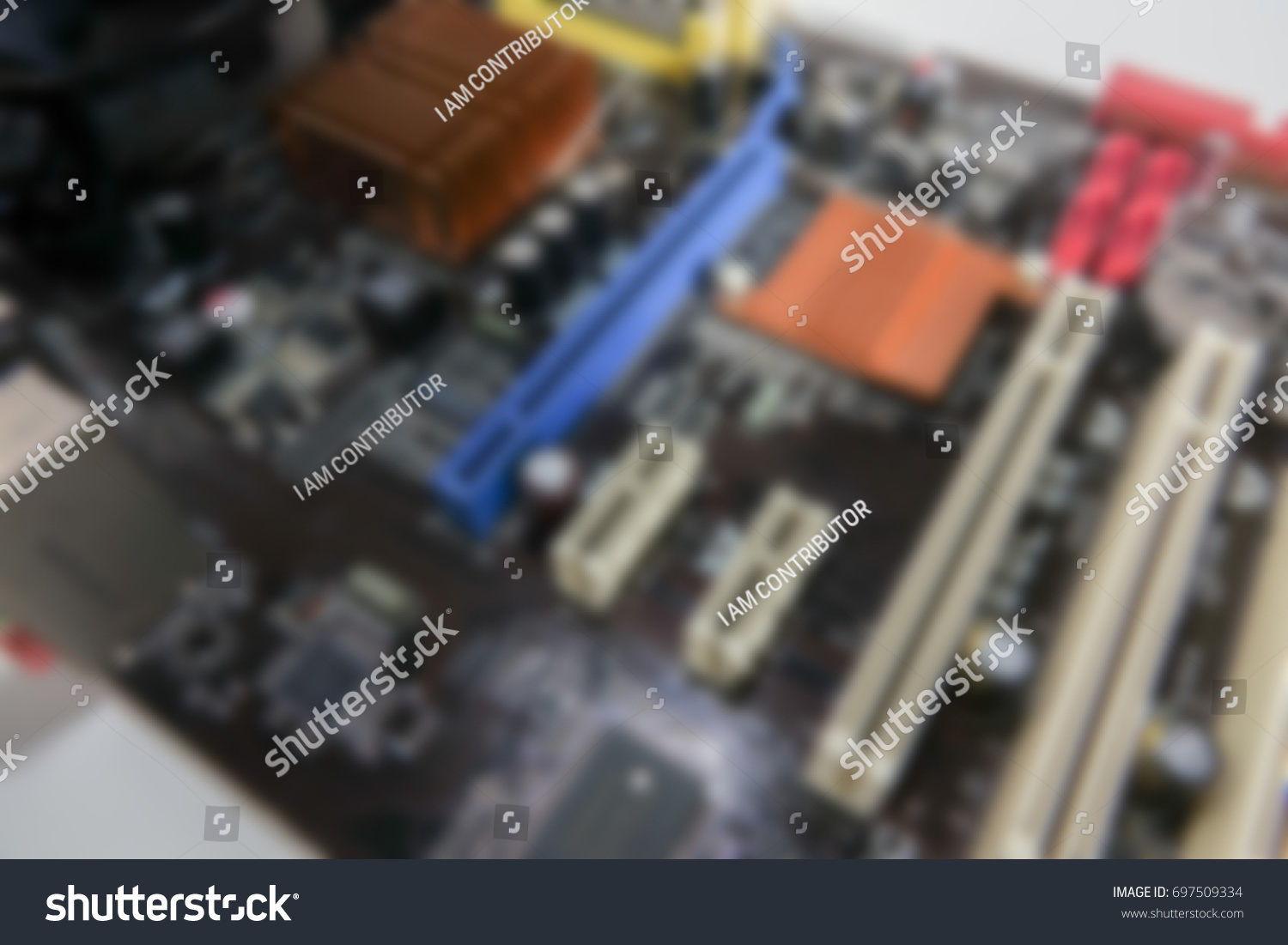 Blurred Pcb Closeup Electronic Circuit Board Stock Photo Edit Now Old Royalty Free Image Of With Cpu Processor