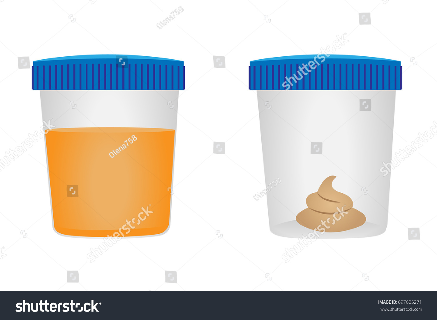 Stool Urina Test Medical Examination Vector Stock
