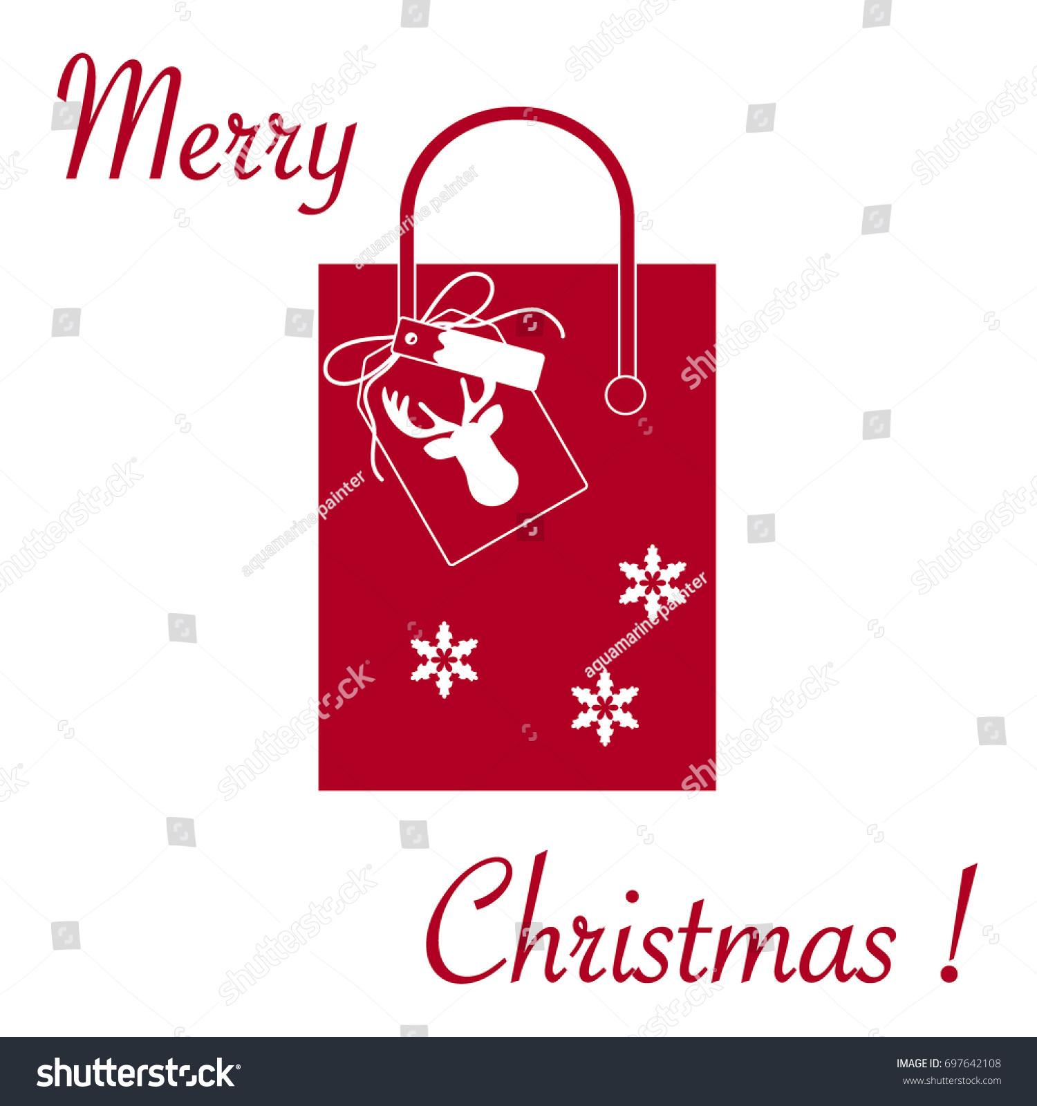 Cute Vector Illustration Gift Bag Snowflakes Stock Vector (Royalty ...