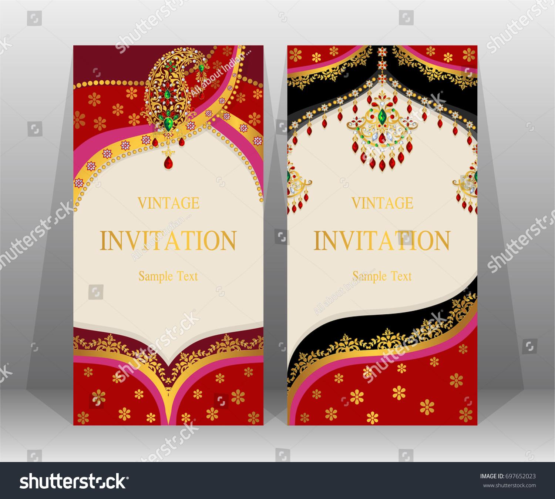 Wedding Invitation Card Templates Indian Man Stock Vector (2018 ...