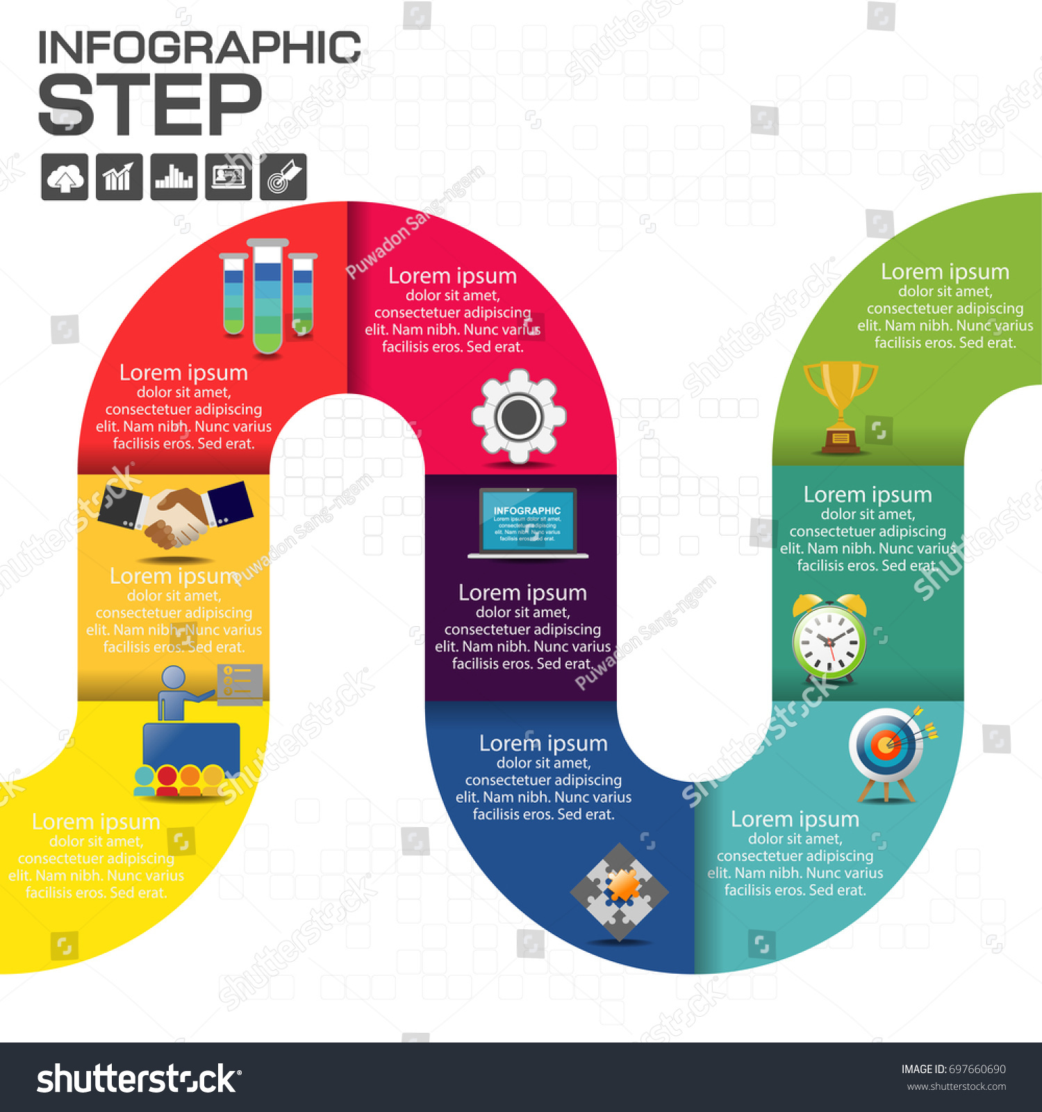 Business Steps Timeline Infographics Design Template Stock Vector Process Flow Diagram Website With 3 12 Options