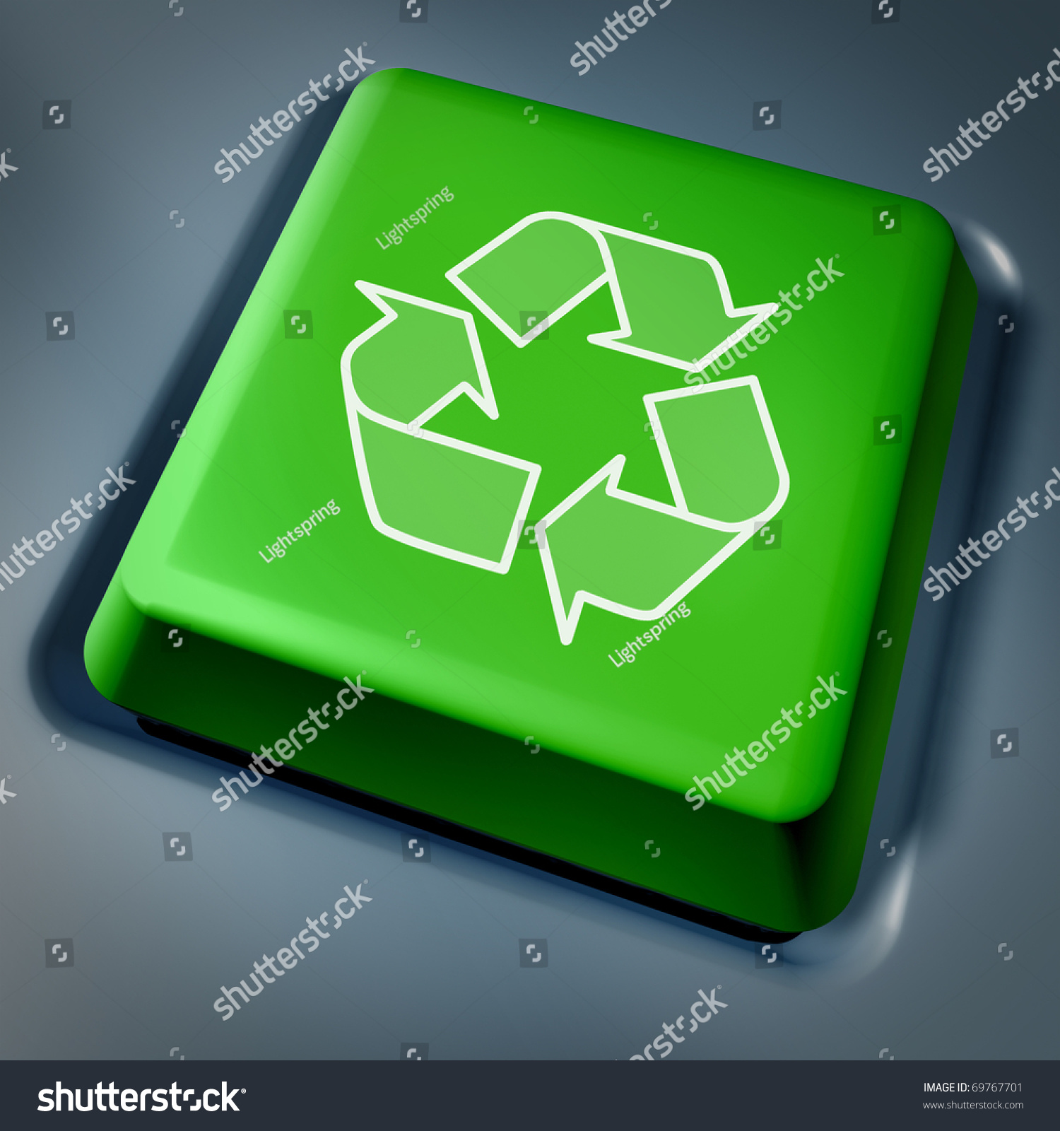 Recycle symbol on computer key laptop stock illustration 69767701 recycle symbol on a computer key laptop keyboard green biocorpaavc Choice Image