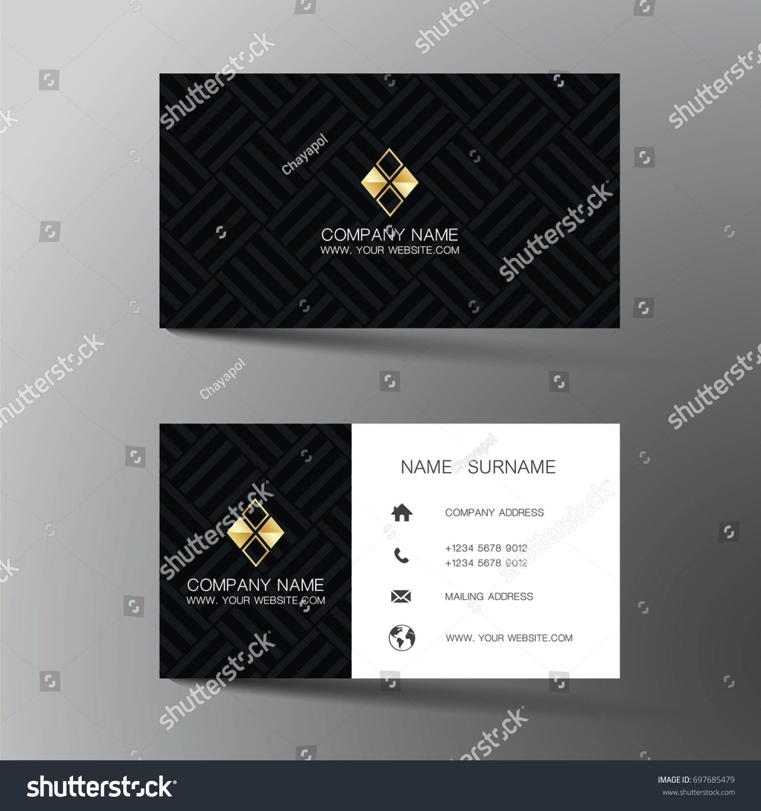 Modern business card design inspiration abstract stock vector modern business card design with inspiration from the abstract reheart Choice Image