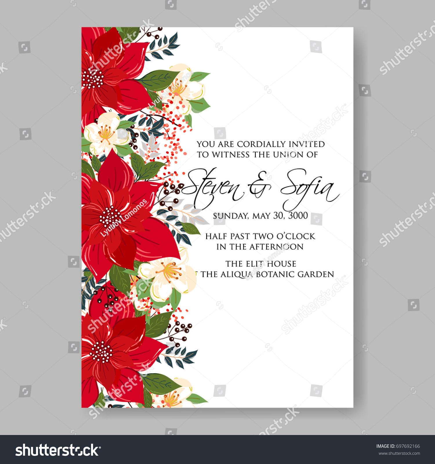 Hibiscus Anemone Poinsettia Peony Tropical Flower Stock Vector ...