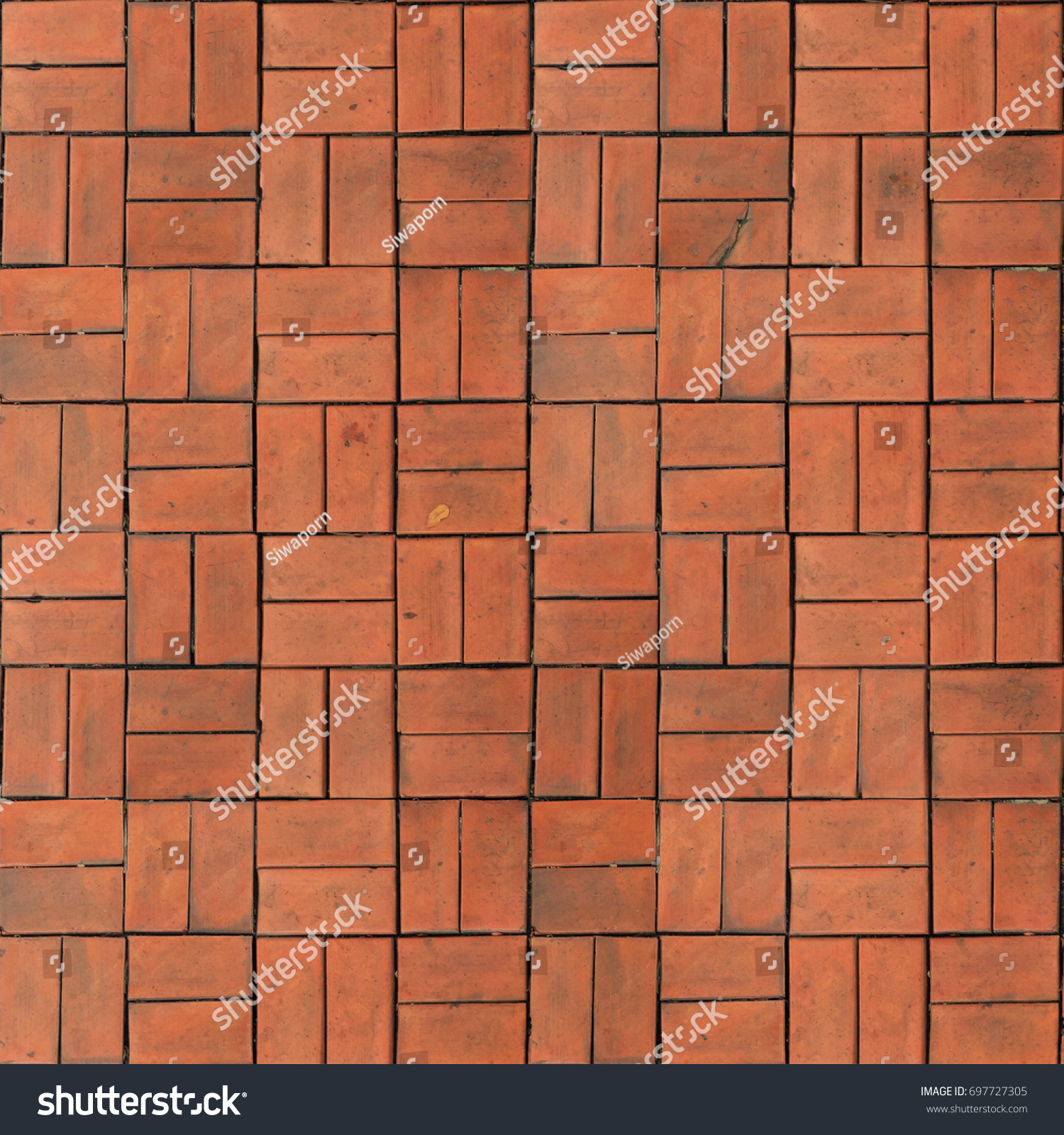 Red brown rectangle shape clay tile stock photo 697727305 red brown rectangle shape clay tile floor pattern brick pavement background dailygadgetfo Gallery