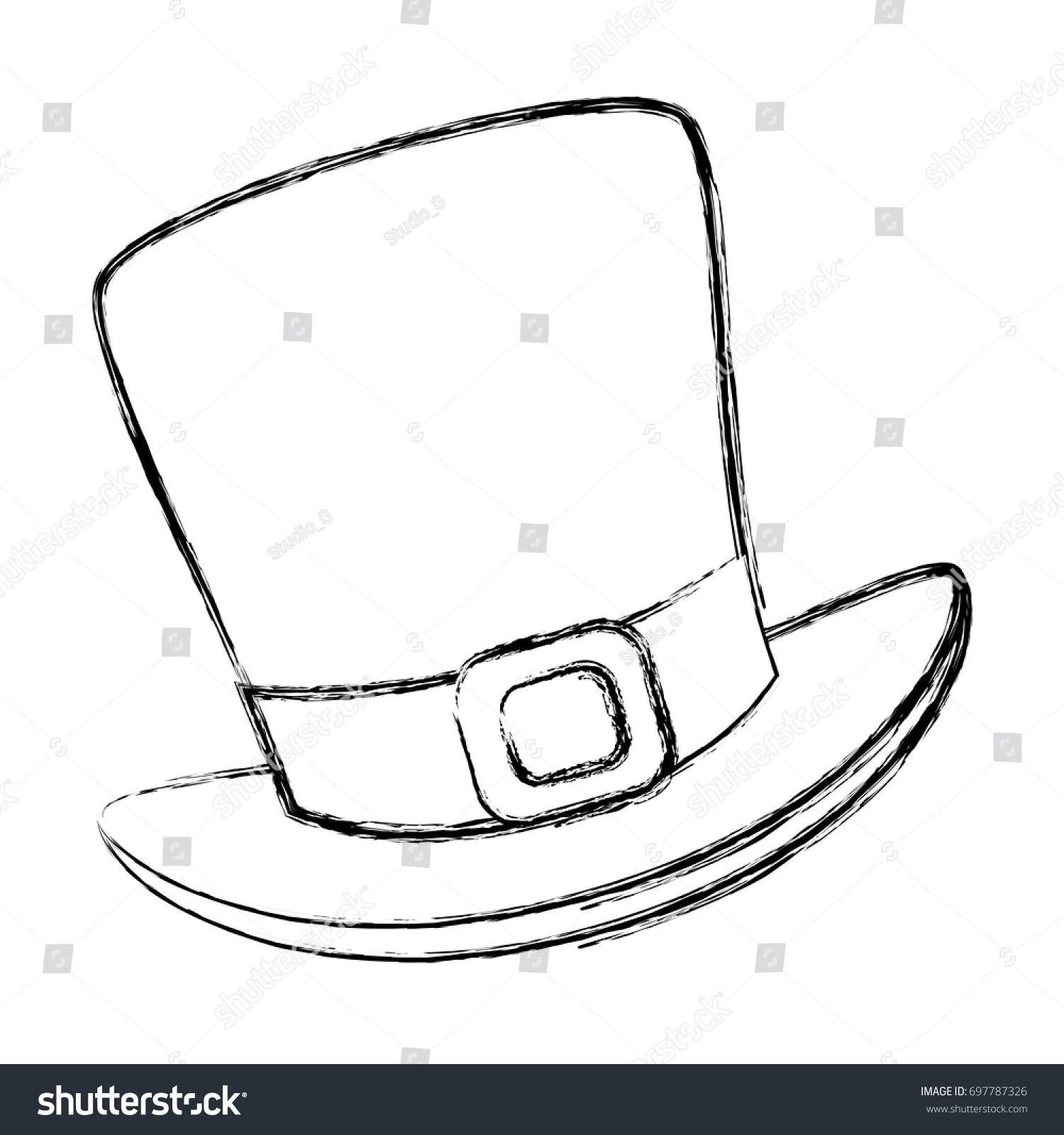 22c6e315d85 Irish Elf Hat Saint Patrick Celebration Stock Vector (Royalty Free ...