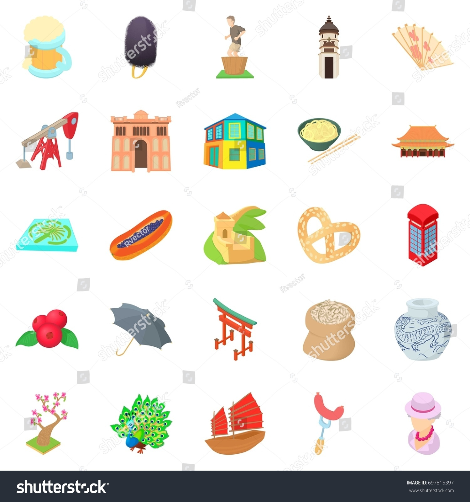 Culture Communication Icons Set Cartoon Stock Vector Royalty Structured Wiring Of 25 For
