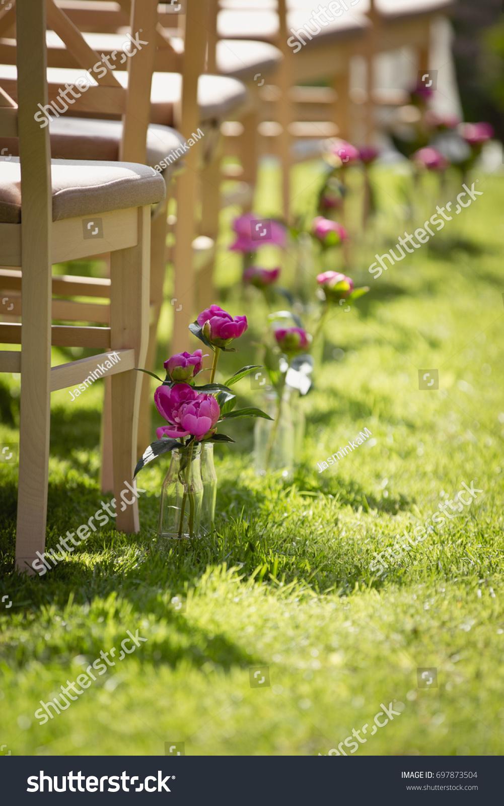 Wedding Set Garden Wedding Ceremony Wedding Stock Photo (Royalty ...