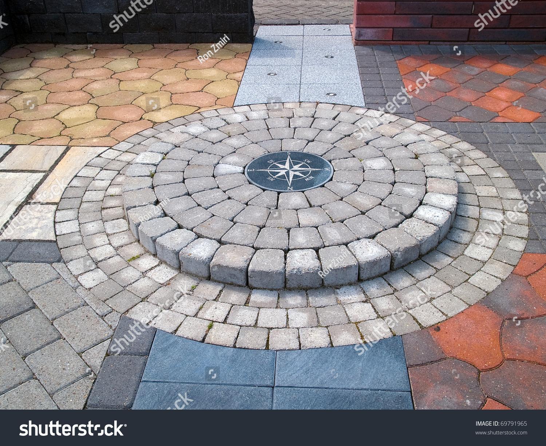 Display of different design stone floor tiles for outdoors - Garden floor tiles design ...