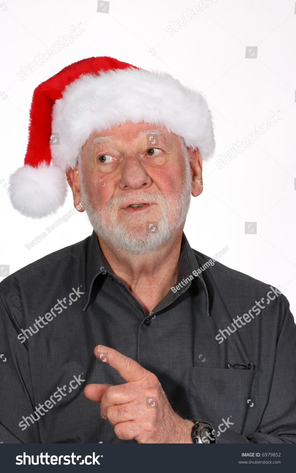 Mature wife takes facial in santa hat