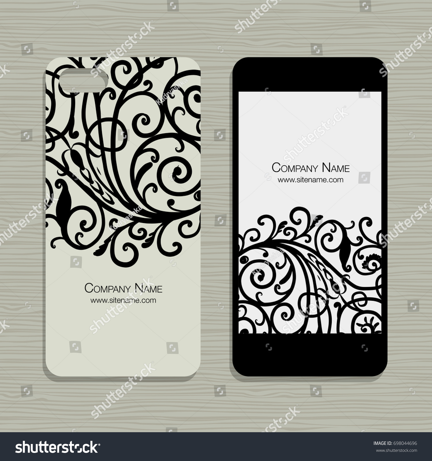 Mobile Phone Design Floral Background Stock Vector Royalty Free