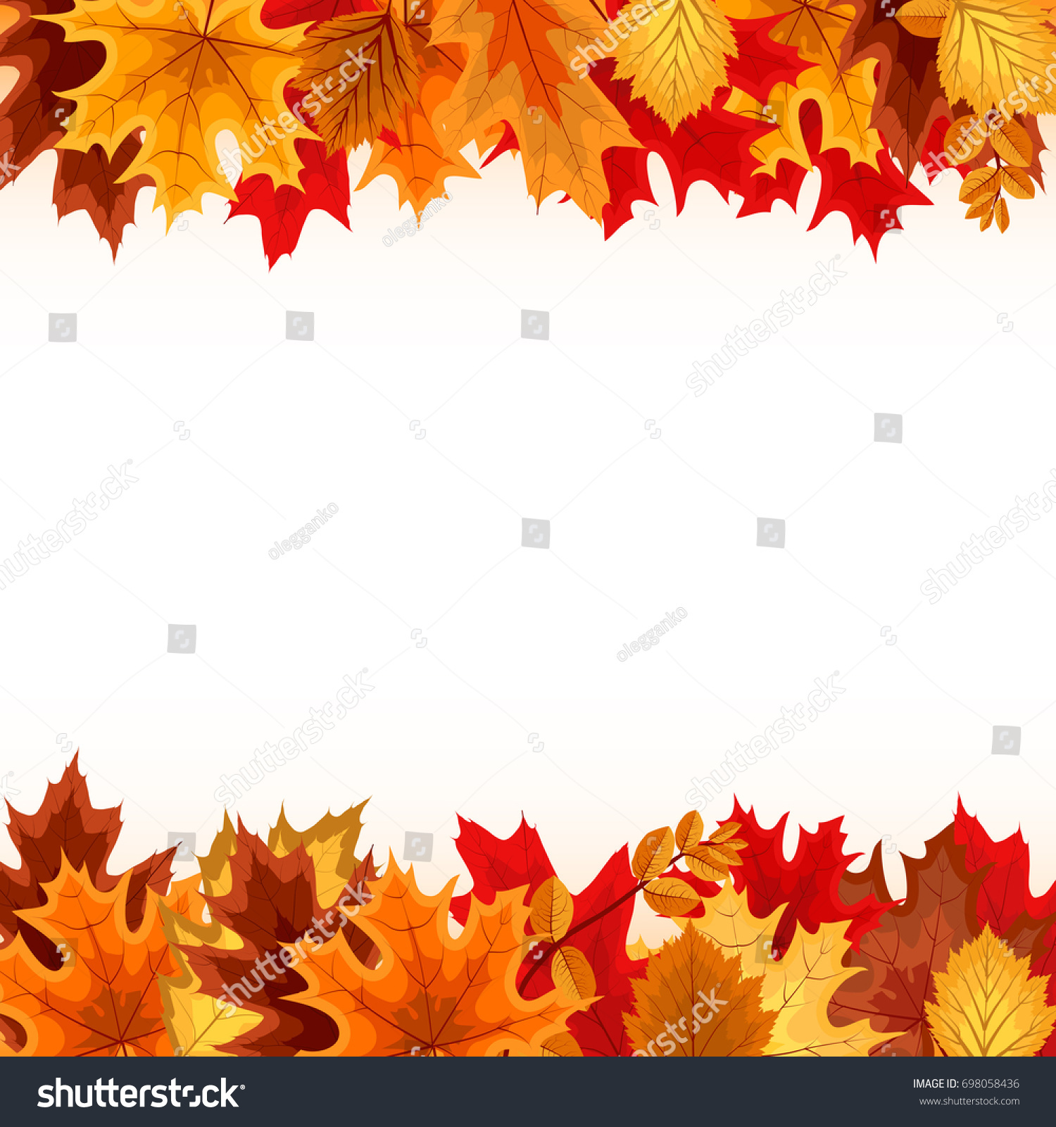 Abstract Vector Illustration Background Falling Autumn