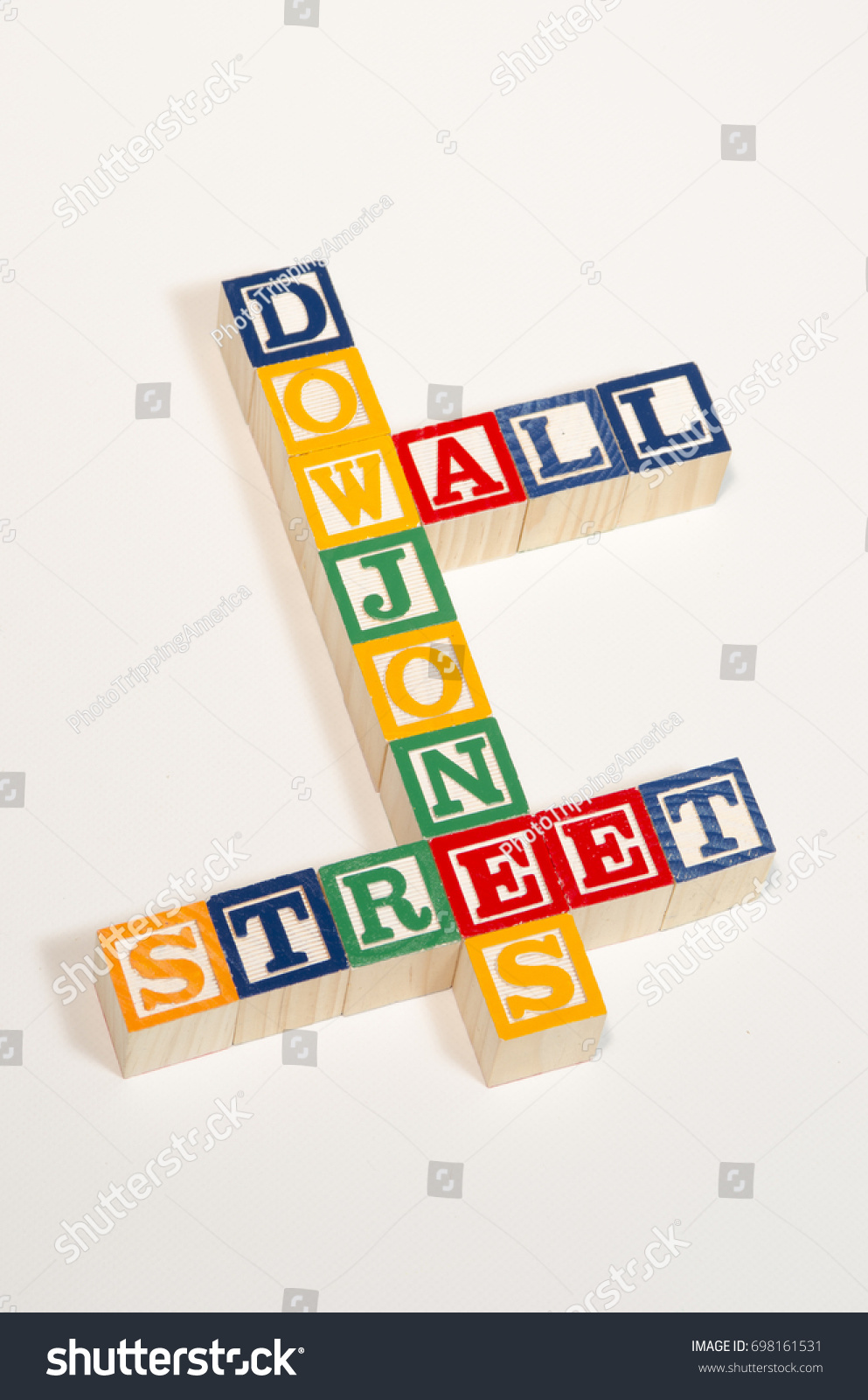 Words Dow Jones Wall Street Spelled Stock Photo Edit Now 698161531
