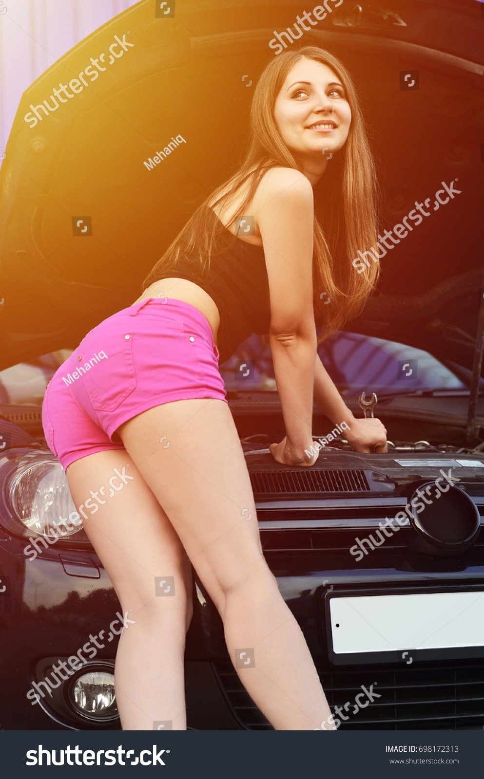 With shorts jockey girls hair blond young curly in
