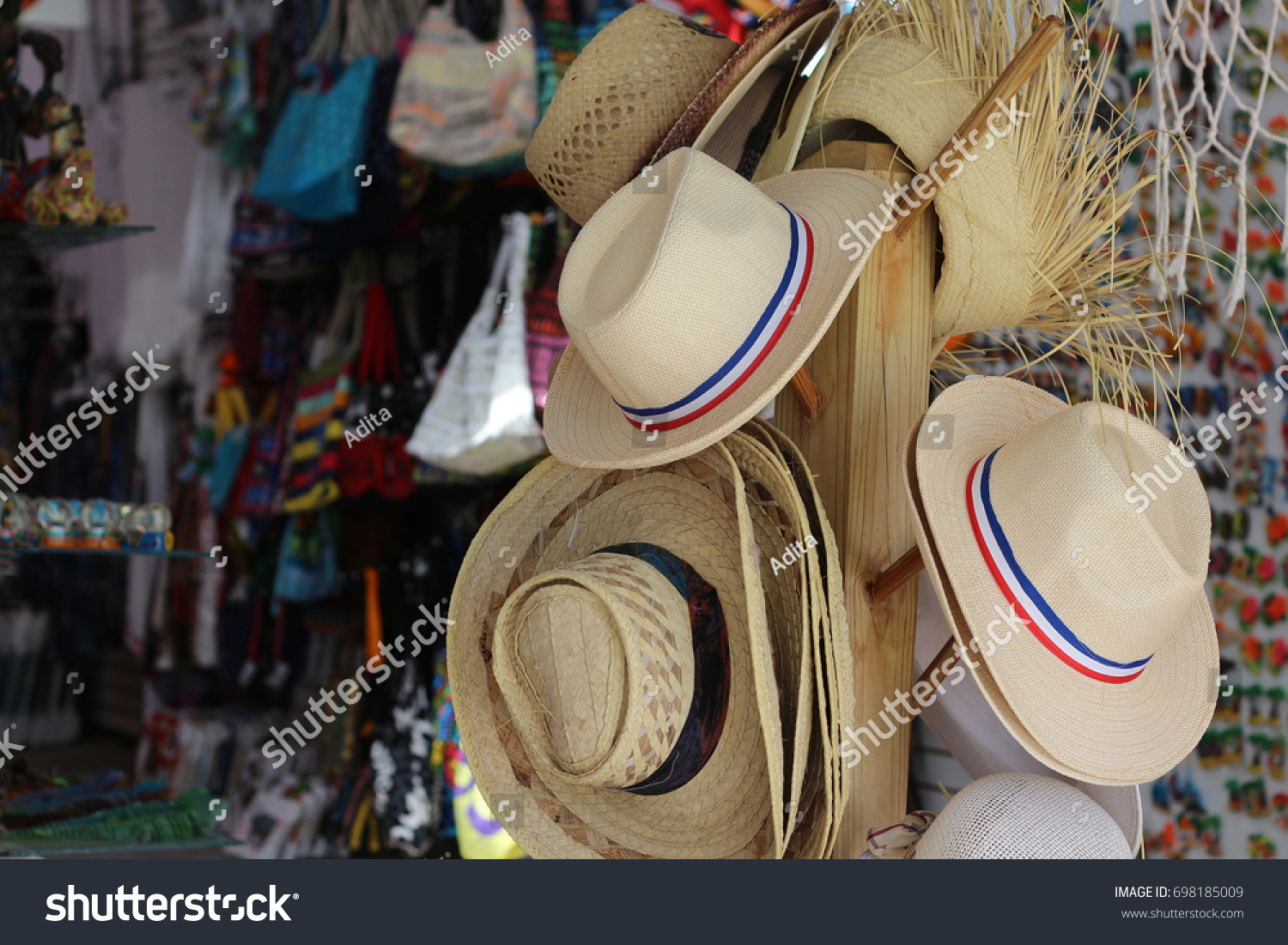 ae045c9e Sale Hats Gift Shop Bayahibe Beach Stock Photo (Edit Now) 698185009 ...