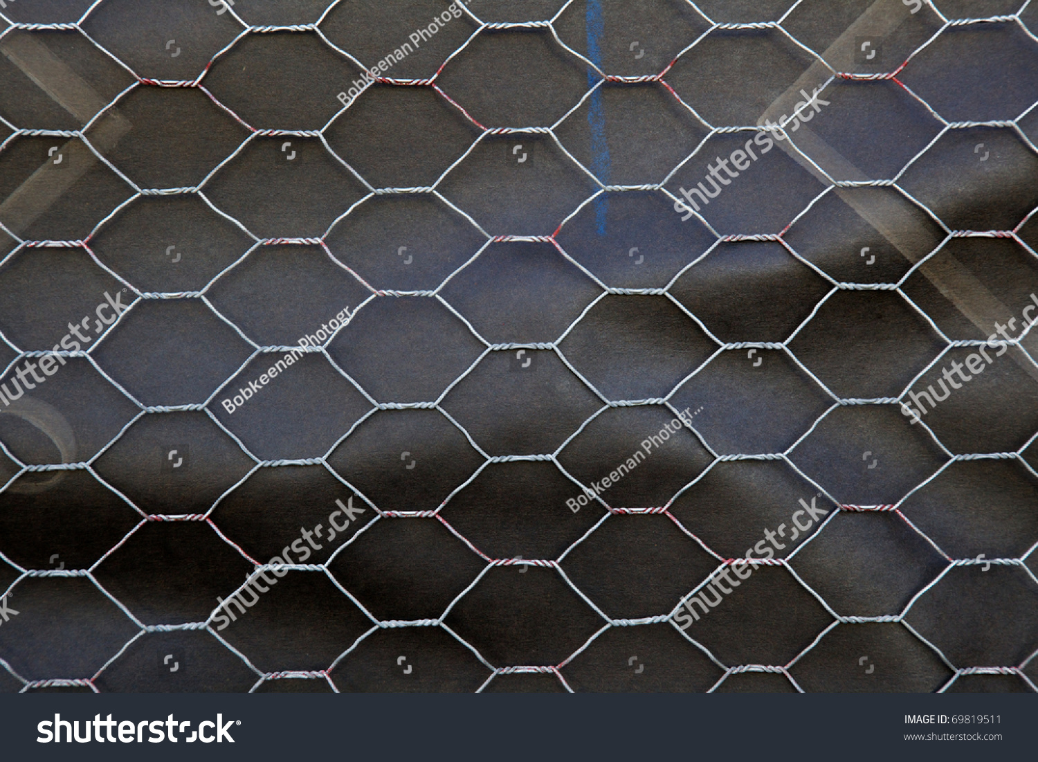 Section Chicken Wire Over Black Roofing Stock Photo & Image (Royalty ...