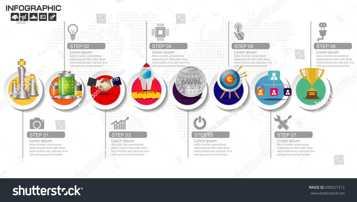 Business Steps Timeline Infographics Design Template Stock Vector Process Flow Diagram Website With 3 10 Options