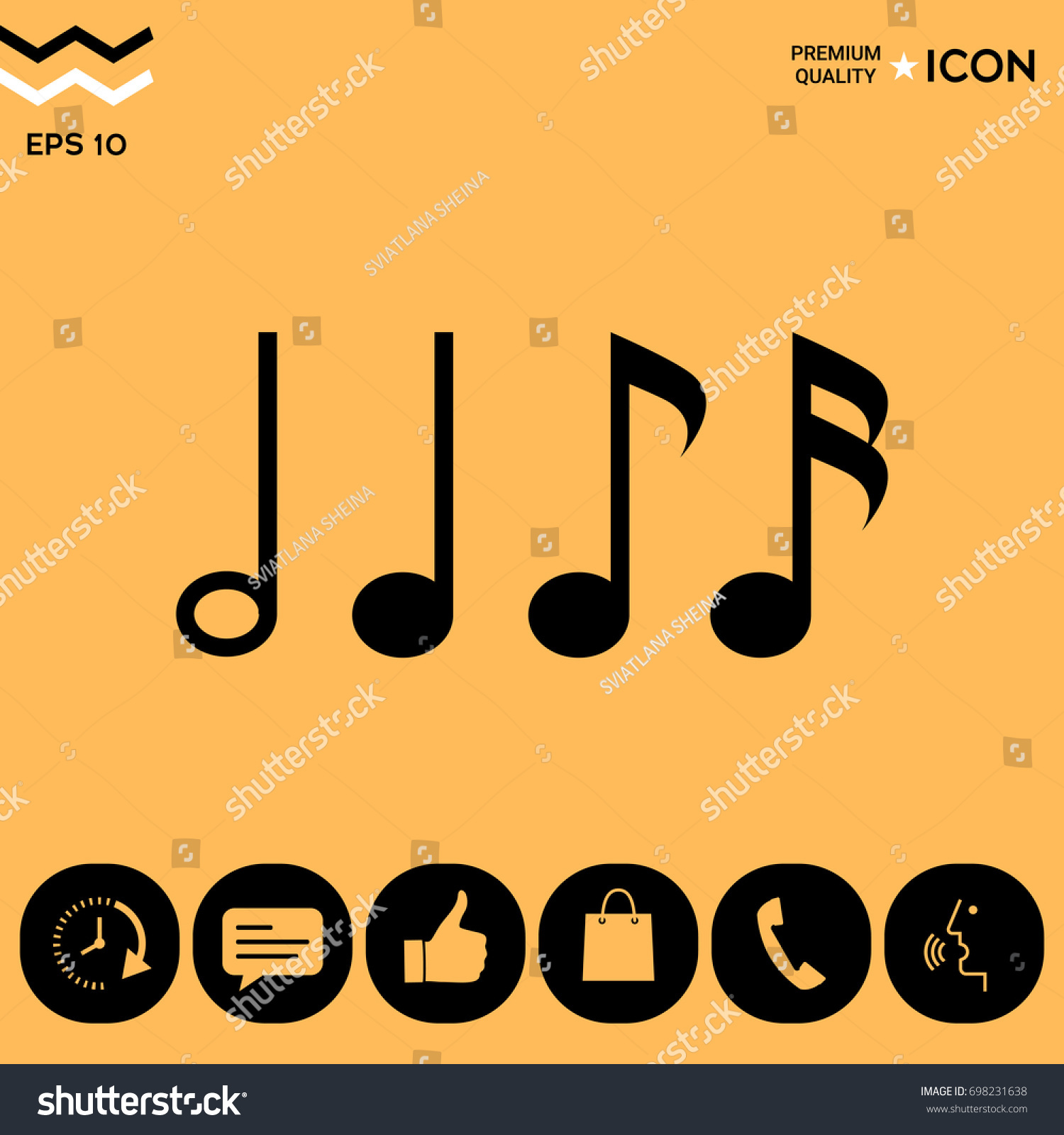 Symbol music notes sixteenth note eighth stock vector 698231638 symbol music notes sixteenth note eighth stock vector 698231638 shutterstock buycottarizona Image collections