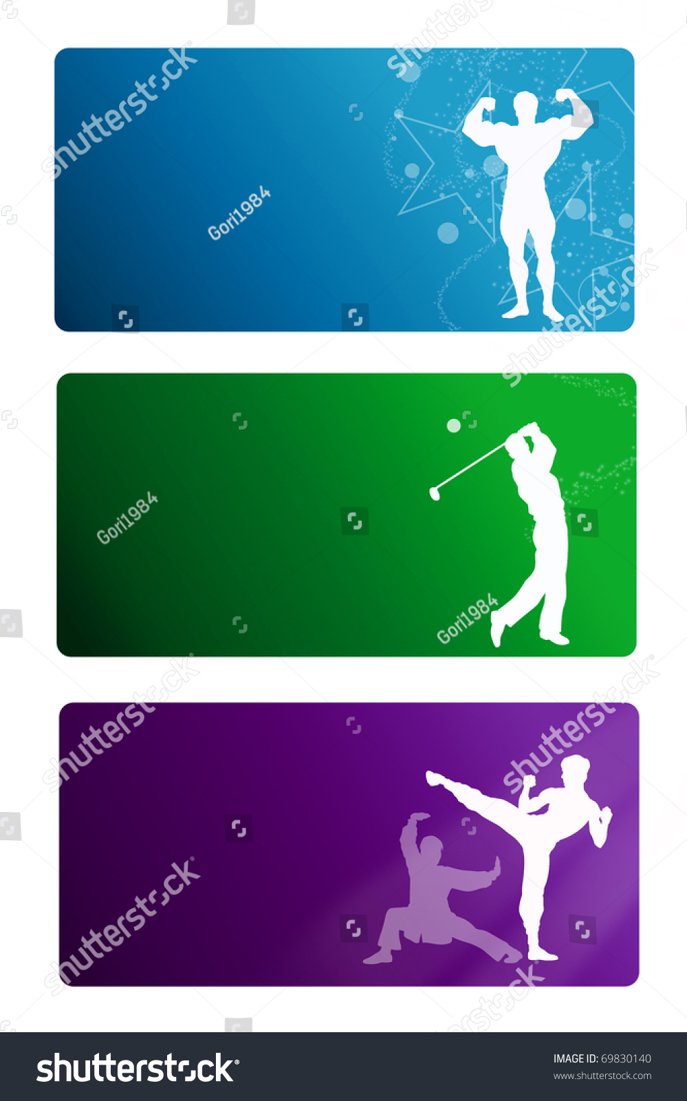 Sport business card template stock illustration 69830140 shutterstock sport business card template reheart Gallery