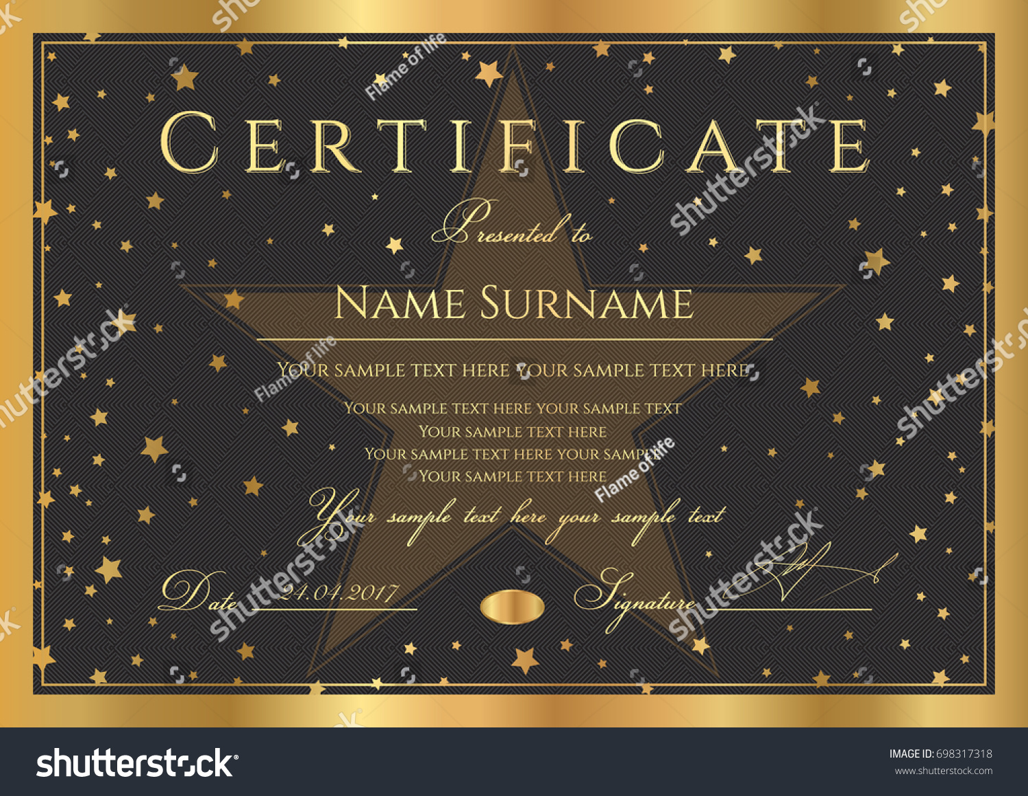 certificate diploma completion abstract design template stock  certificate diploma of completion abstract design template black background gold frame