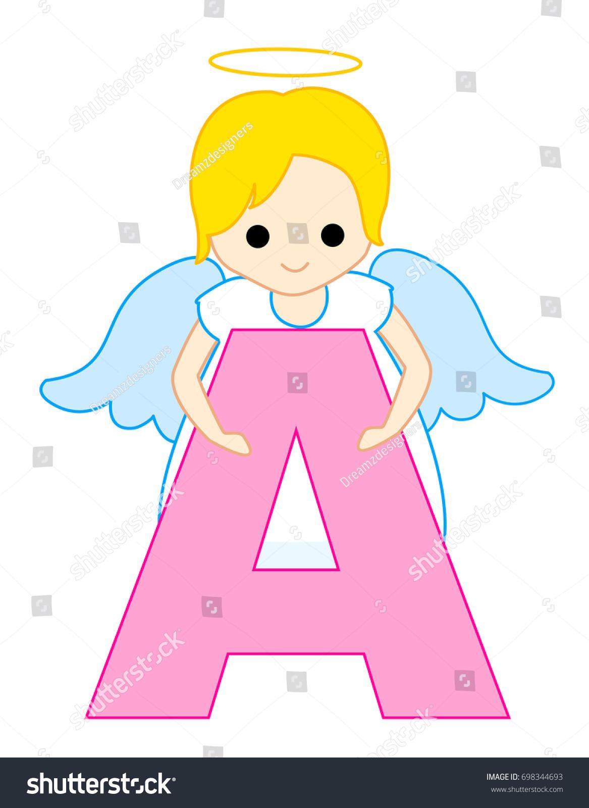 Alphabet Letter Angel Stock Illustration 698344693 - Shutterstock