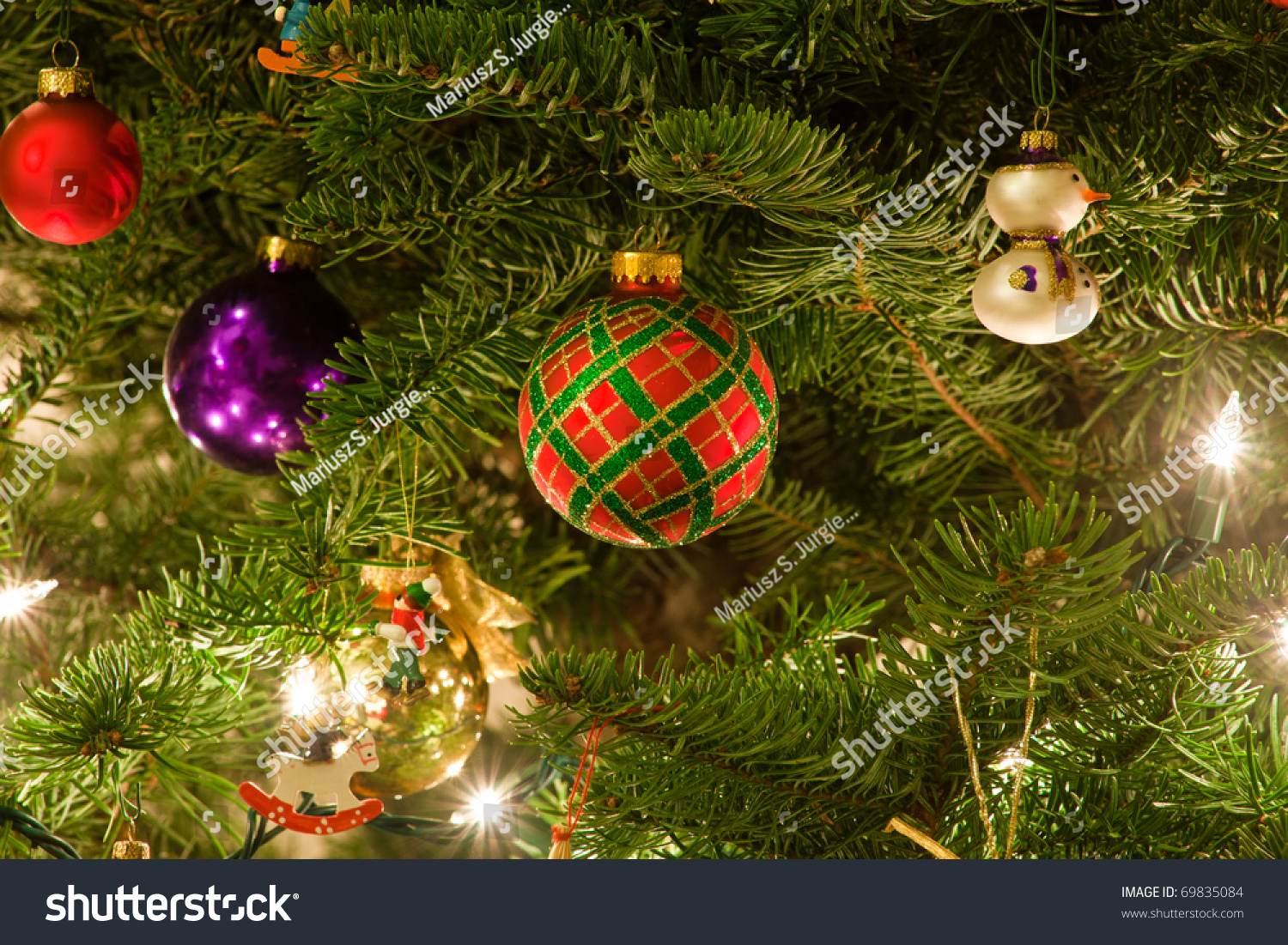 Christmas ornaments are decorations usually made of glass