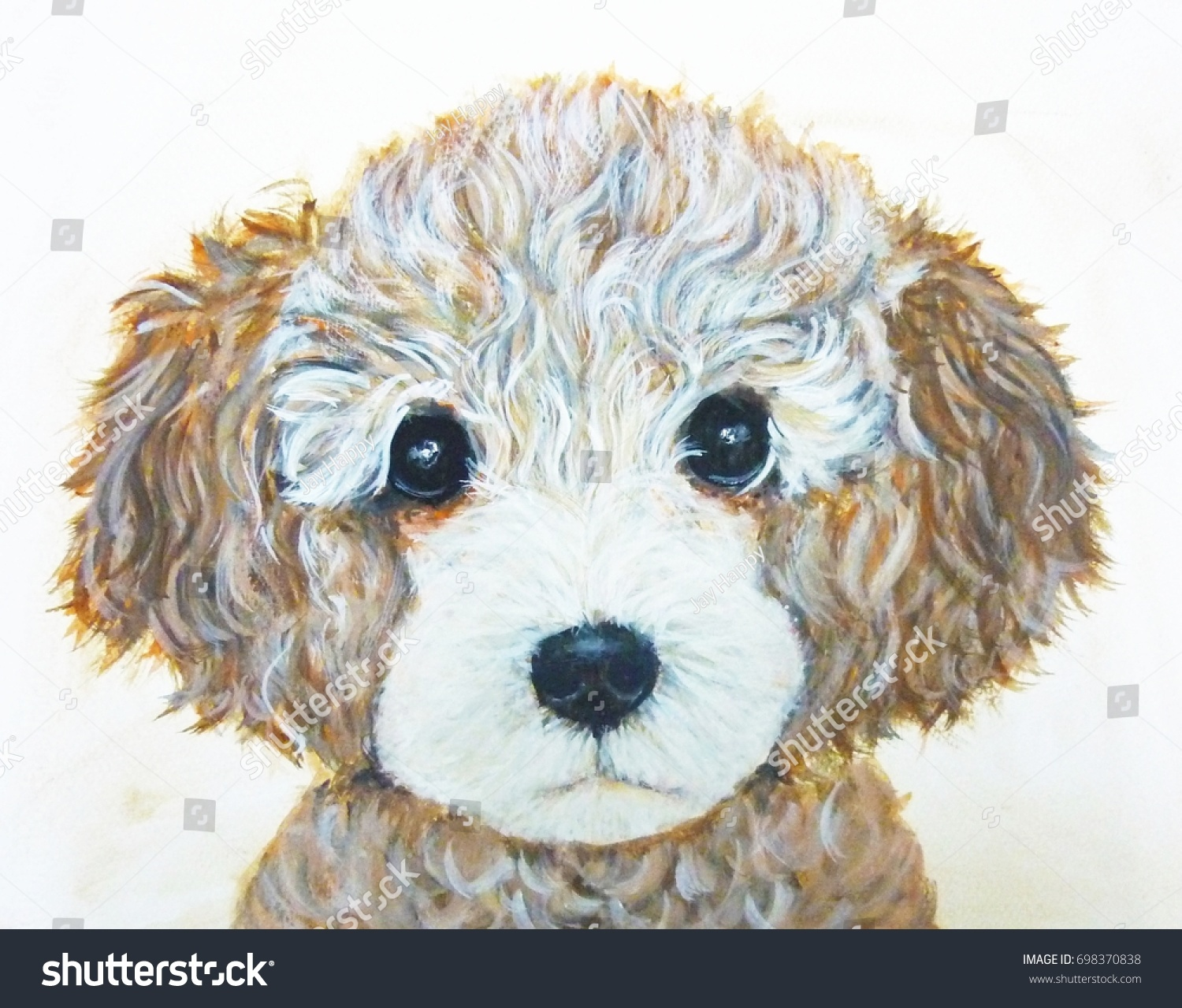 Ilustracion De Stock Sobre Poodle Dog Art Cute Puppy Wallpaper 698370838