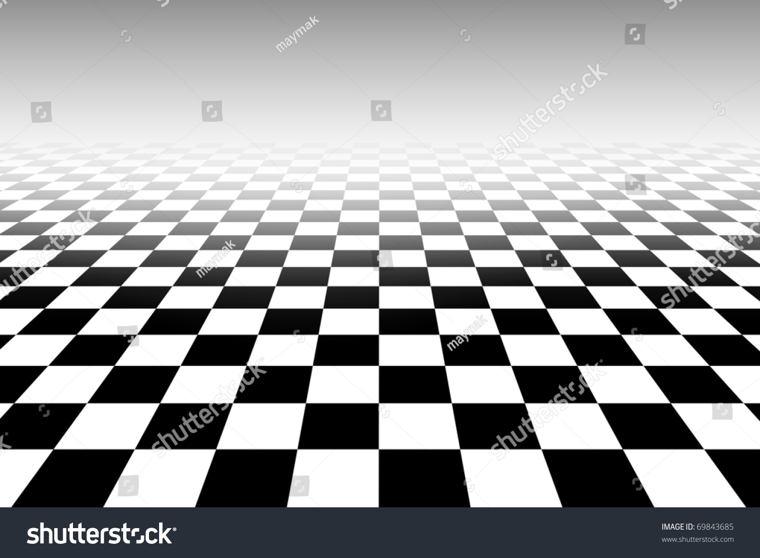 tridimensional chessboard black white pattern square stock