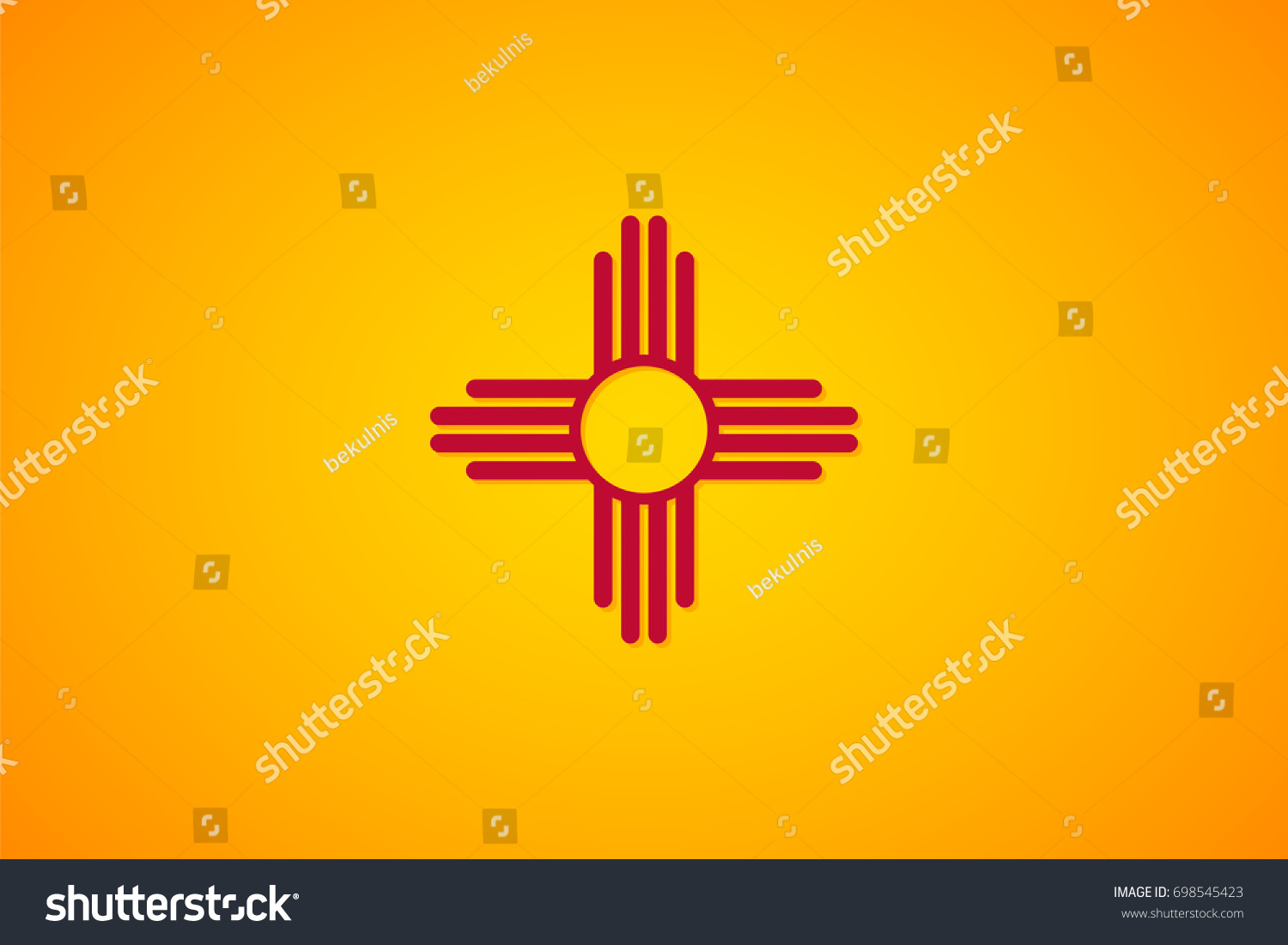 Isolated Vector Flag New Mexico Gradient Stock Vector 698545423