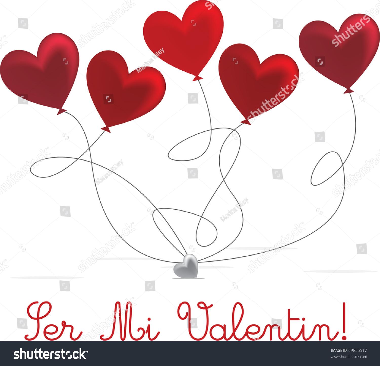 Spanish valentine 39 s day card design stock vector for Valentines day card design