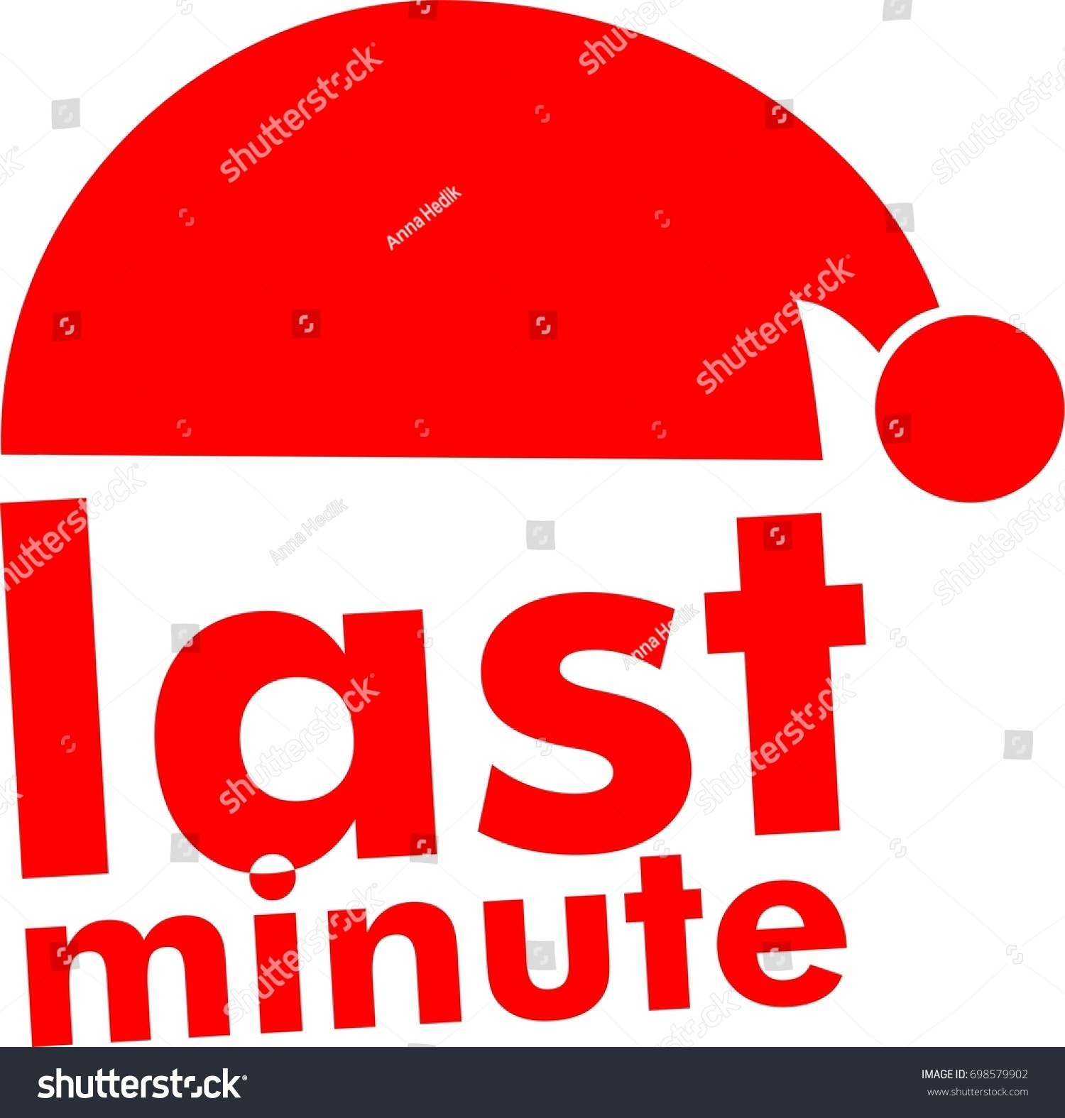 Last Minute Chance Text With Santa Claus Icon Red Xmas Button Special Offer