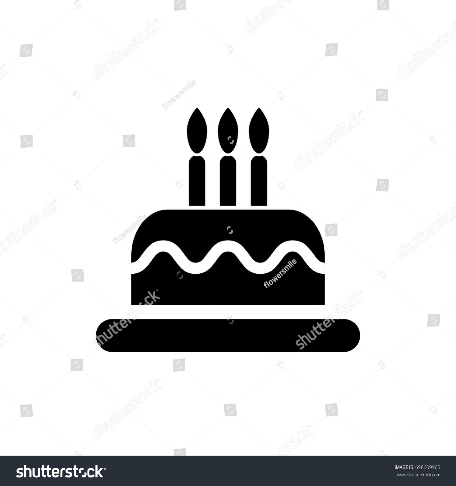 Birthday Cake Icon Vector Happy Birthday Stock Vector HD Royalty