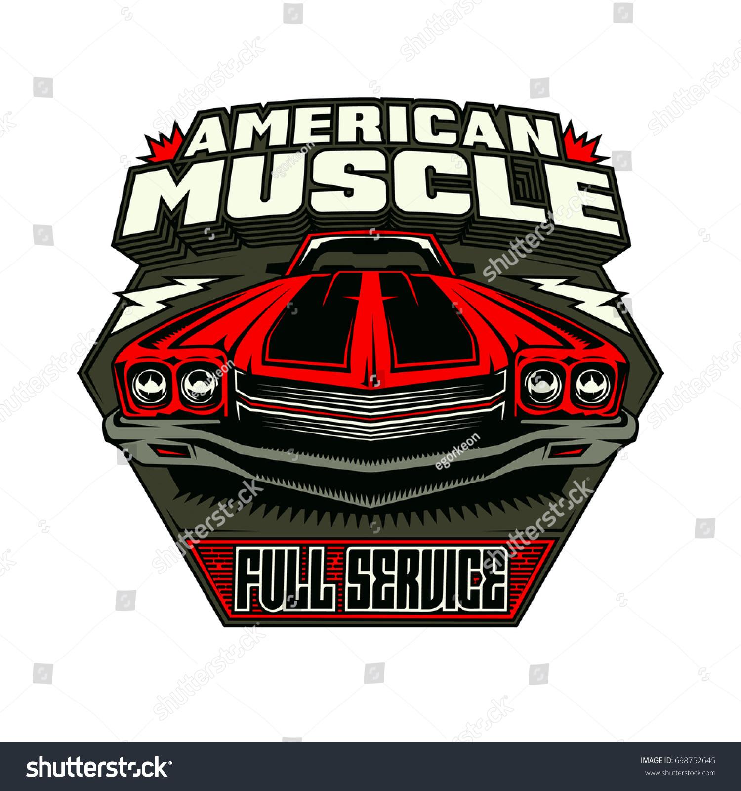 American Vintage Car Logo Emblem Stock Vector 698752645 - Shutterstock