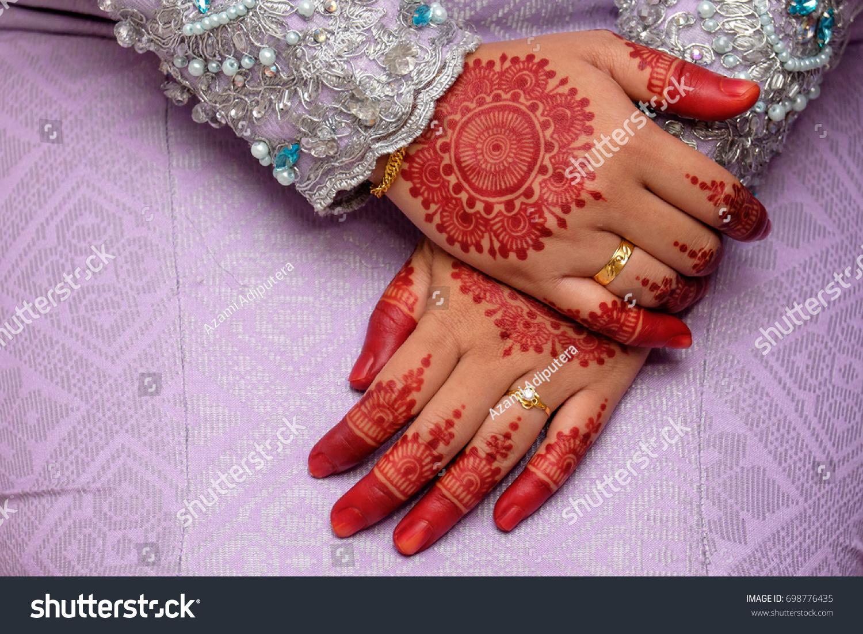 Henna On Hands Malay Wedding Bride Stock Photo Edit Now 698776435