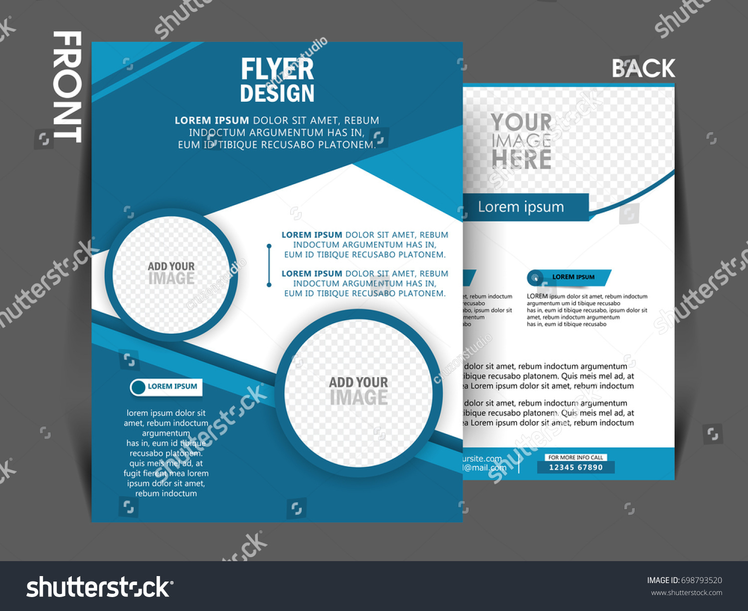 Business Brochure Template Front And Back Page Flyer Design