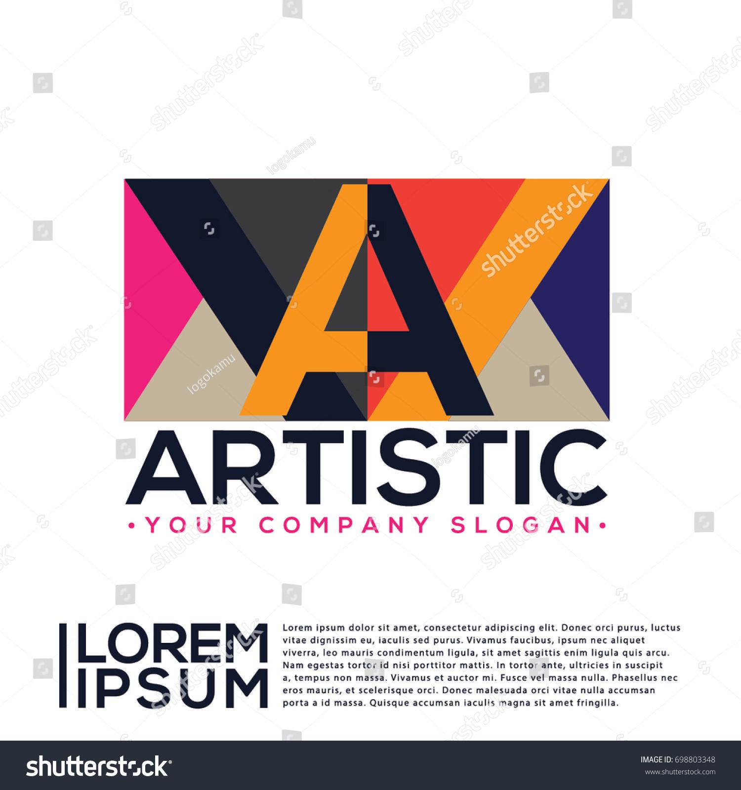artistic logo vector stock vector royalty free 698803348
