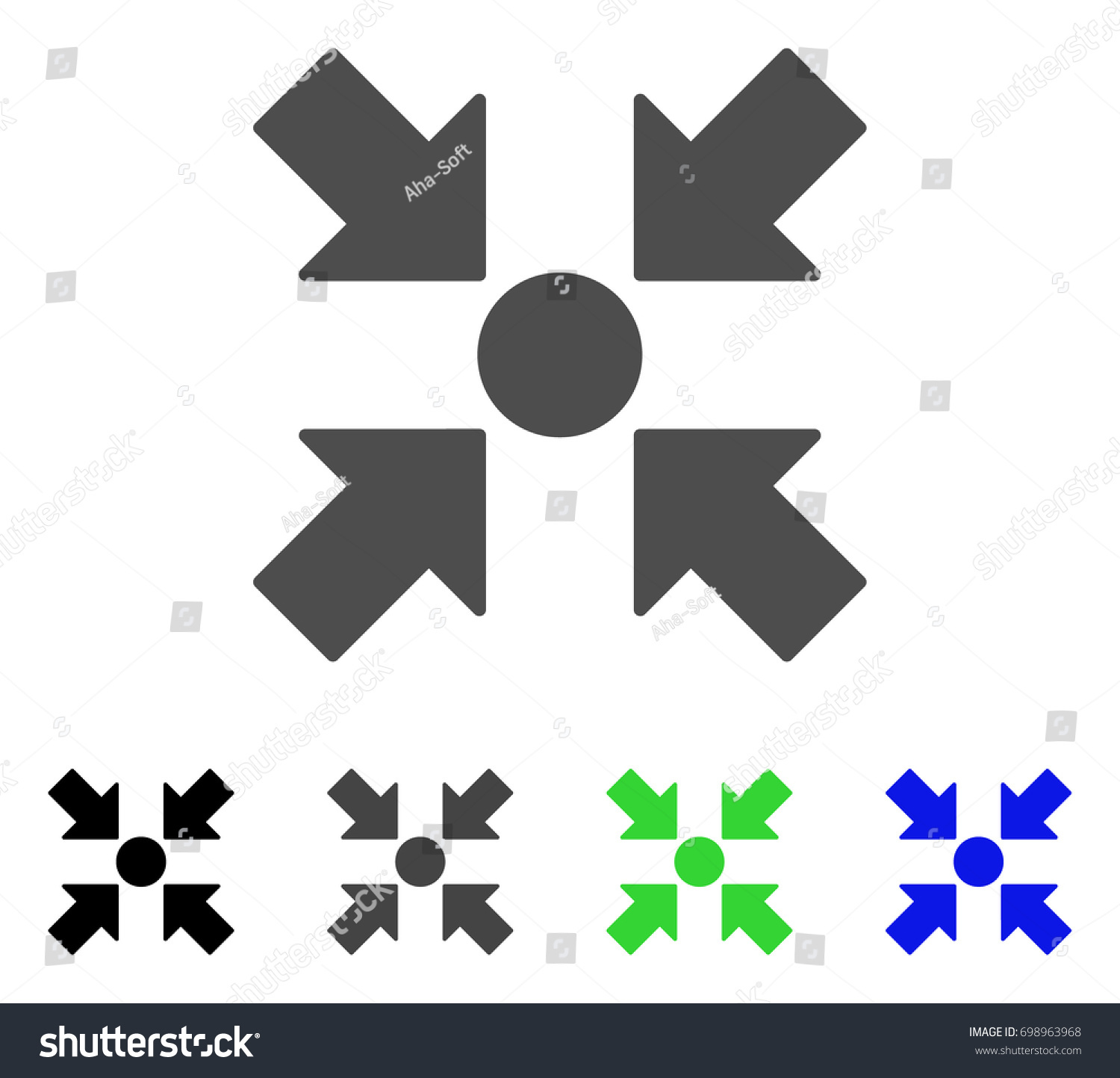 Meeting Point Flat Vector Pictograph Colored Stock Vector Royalty