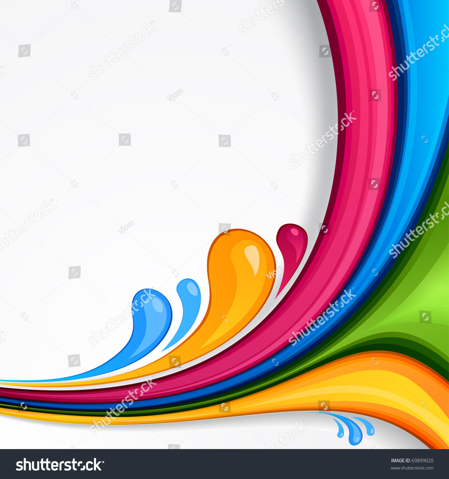 Vector Abstract Vibrant Background.