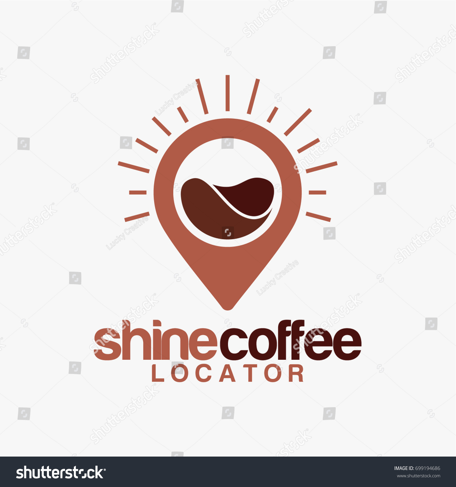 Coffee Point Logo Designs Shine Coffee Stock Vector (2018) 699194686 ...
