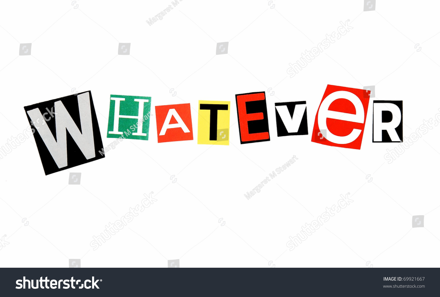 Modern Attitude Word   U0026quot Whatever U0026quot  Written In Colorful
