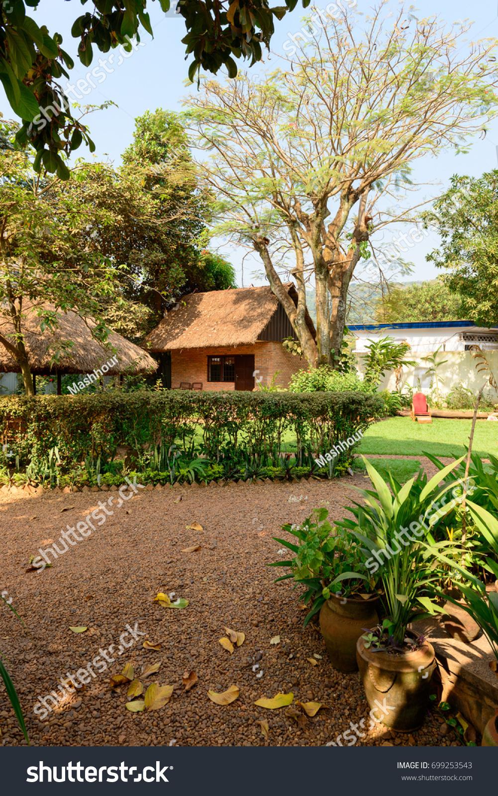 Typical Small House Garden Bangui Center Stock Photo (Royalty Free ...