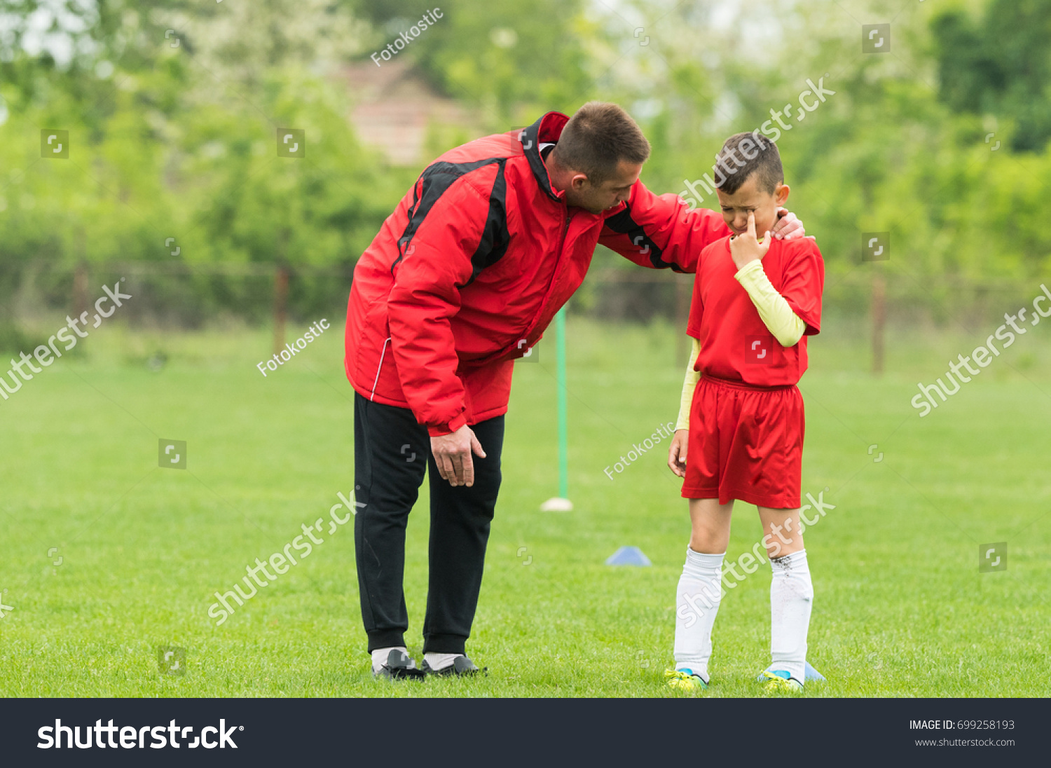 kids soccer football coach comfort little stock photo 699258193