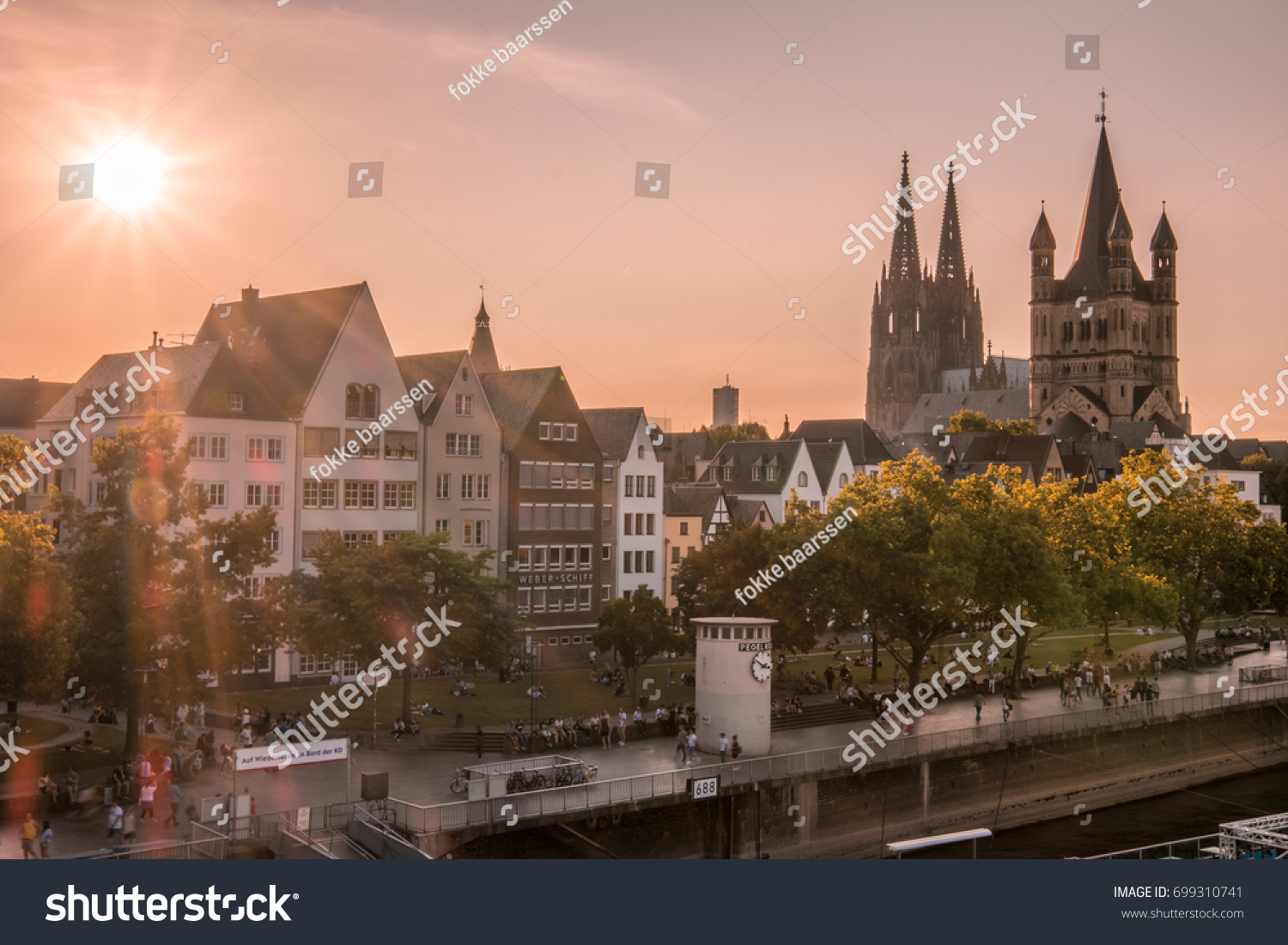 cologne germany evening scene over cologne koln city with kolner dom cathedral on