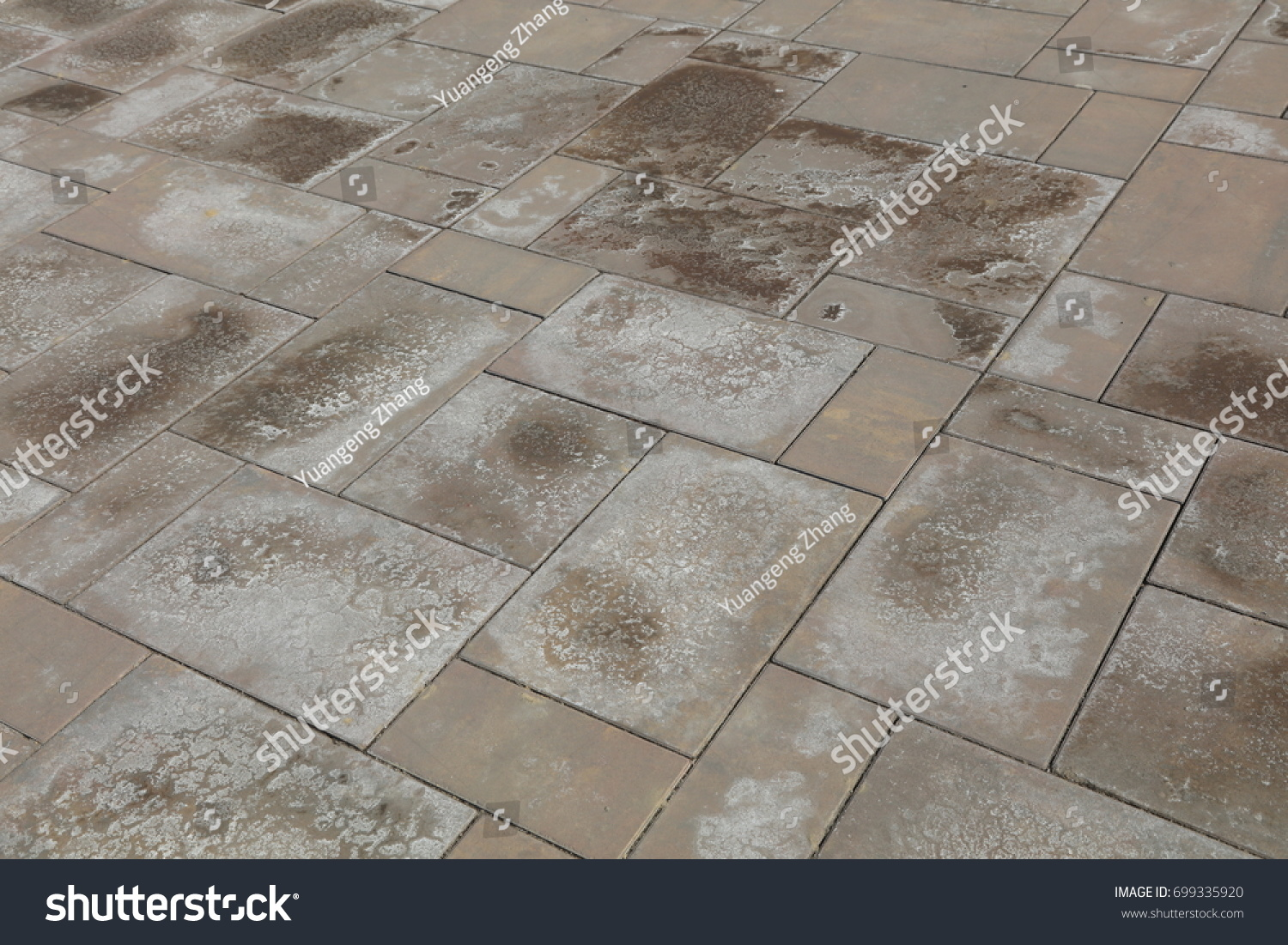Alkali stain on cement floor tile stock photo 699335920 shutterstock alkali stain on the cement floor tile dailygadgetfo Gallery