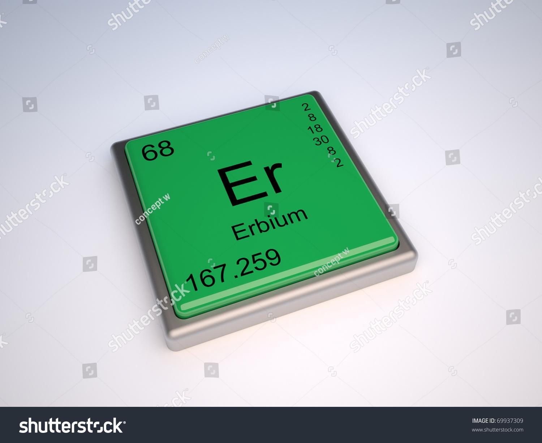 Erbium Chemical Element Periodic Table Symbol Stock Illustration