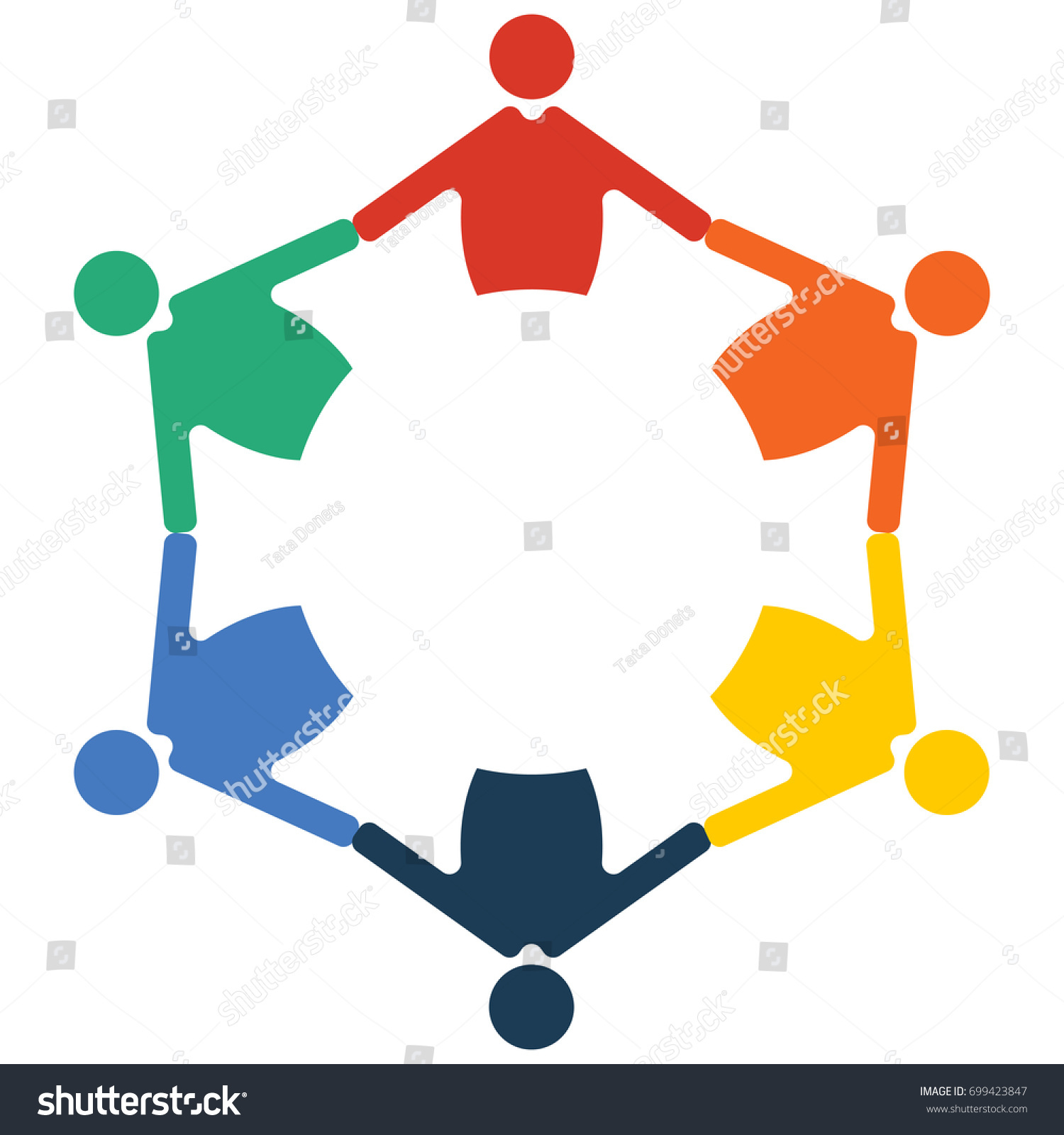 Family Reunion Diversity Group Community Round Stock Vector Royalty