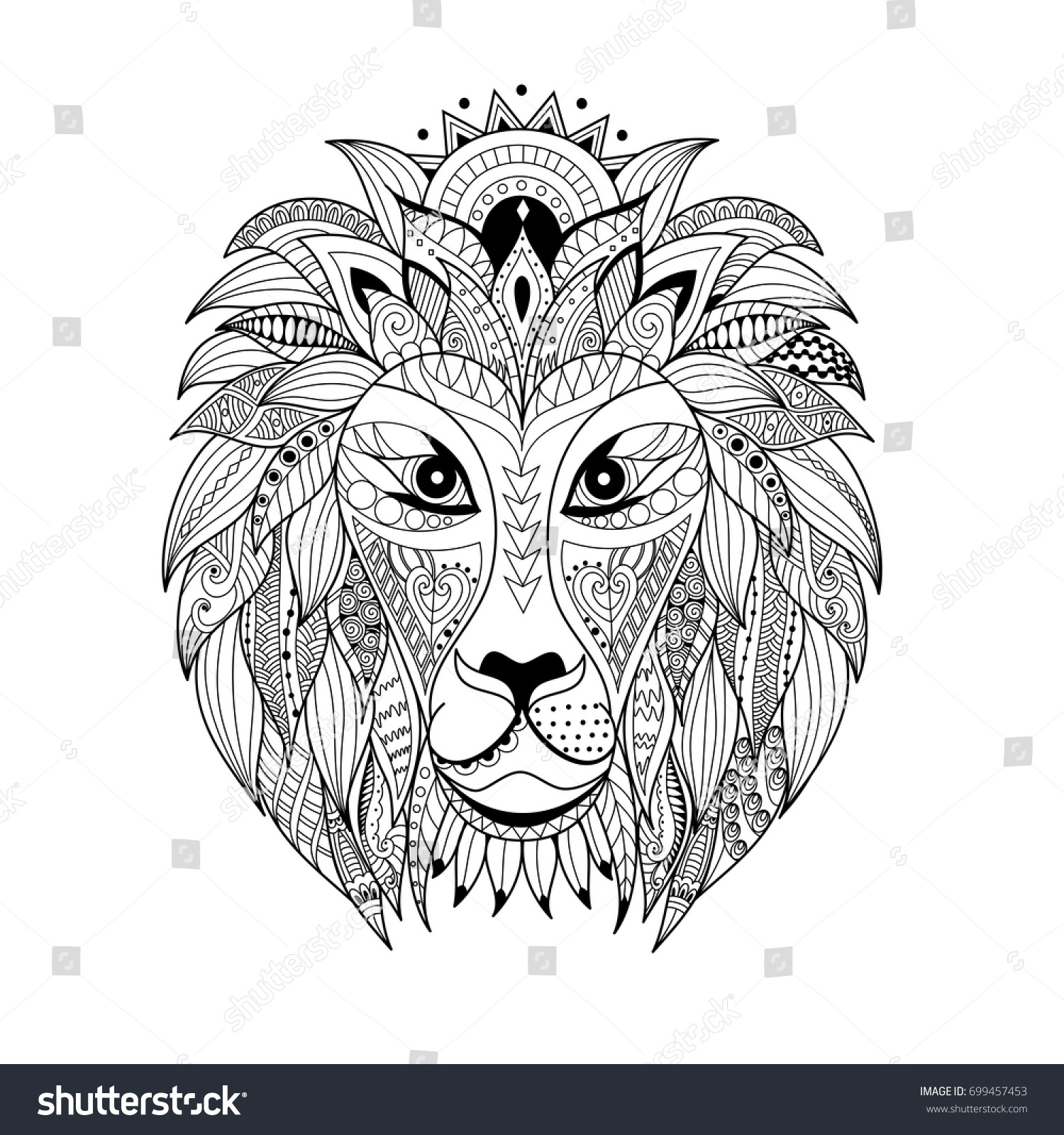 Lion Coloring Pages Adult Lion Head Coloring Pages Printable ... | 1600x1500