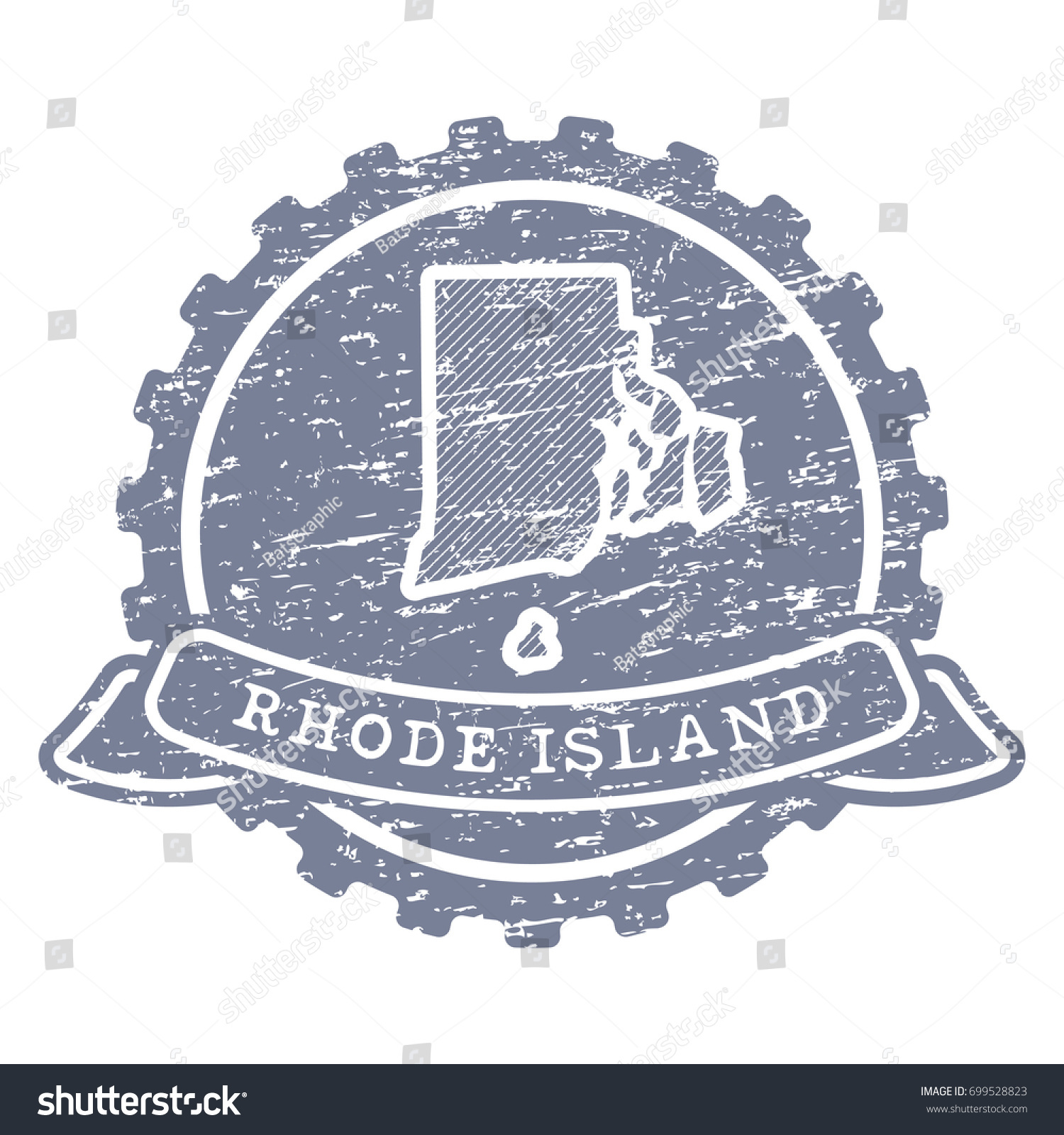 Vector icon rhode island state made stock vector 699528823 a vector icon of rhode island state made with simple isolated shapes in vintage style and biocorpaavc Choice Image