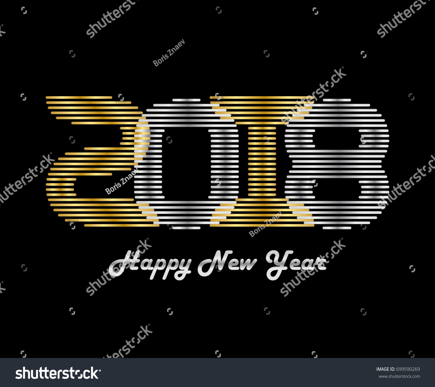 Happy New Year 2018 Vector Background Stock Vector (Royalty Free ...